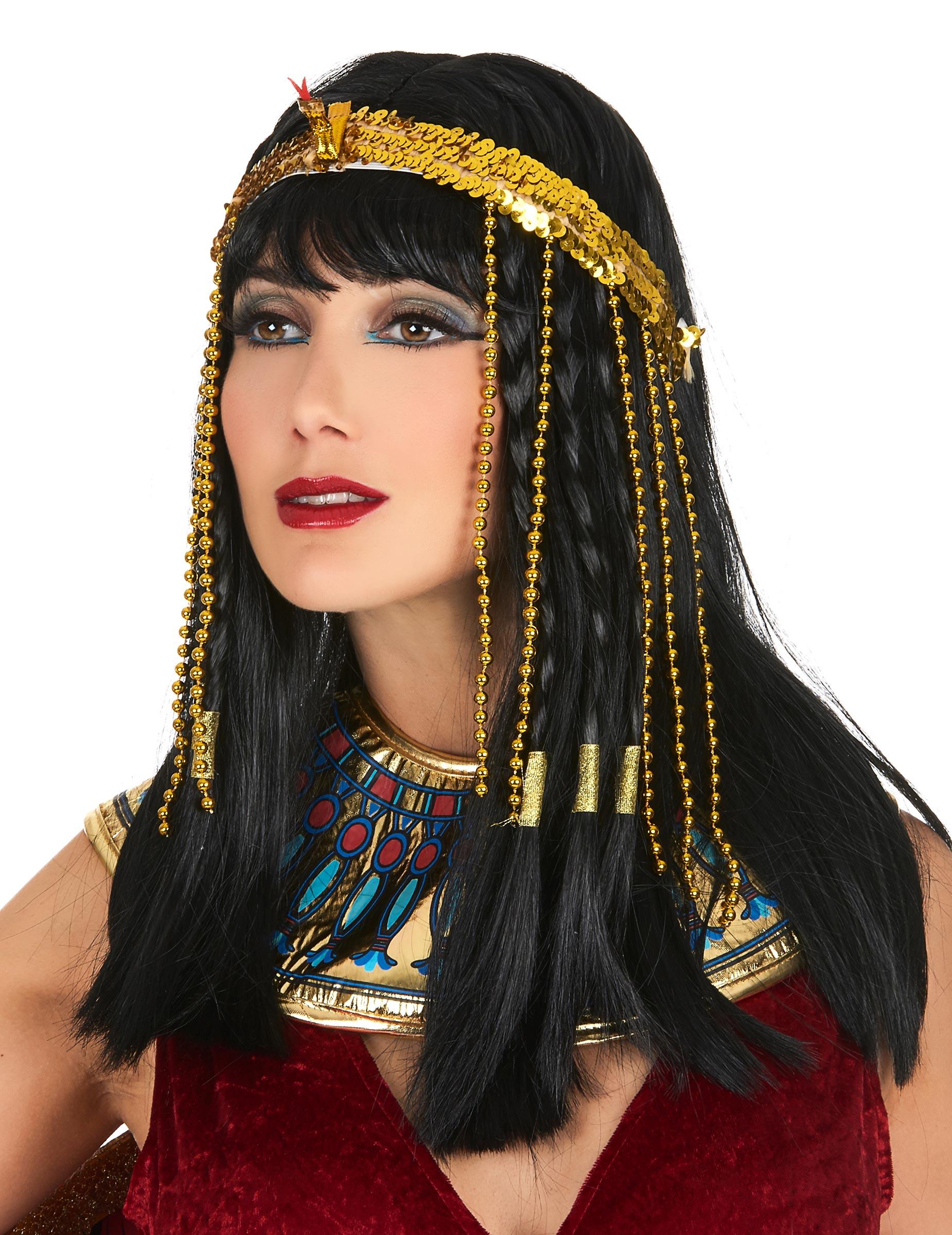 Fascia per capelli antico egitto dorata per donna ...