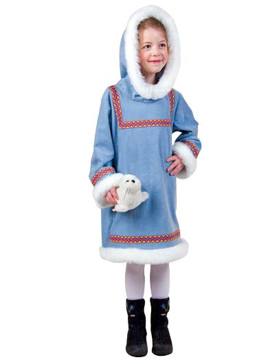 negozio online Garanzia di soddisfazione al 100% vendita online Costume da eschimese per bambina: Costumi bambini,e vestiti ...