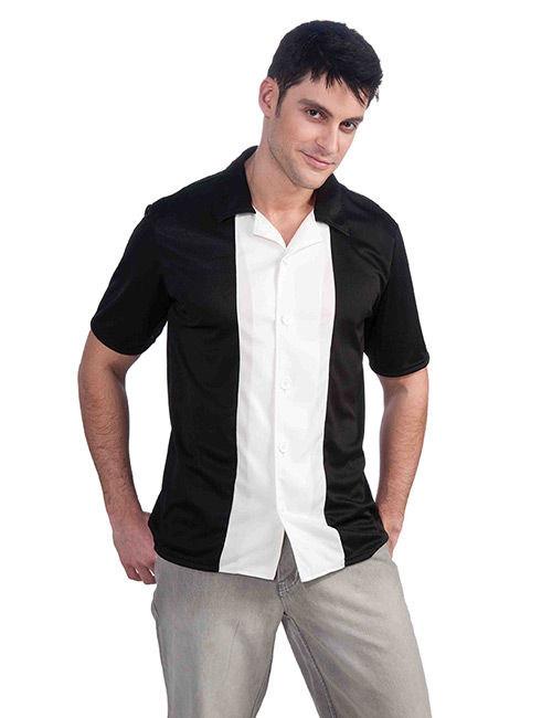 new products c90df 4a452 Camicia bianca e nera anni 50 per uomo: Costumi adulti,e ...