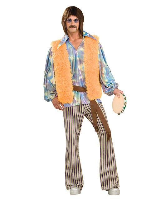 prezzo limitato forma elegante comprare Costume Hippie anni 60 per uomo con gilet: Costumi adulti,e ...