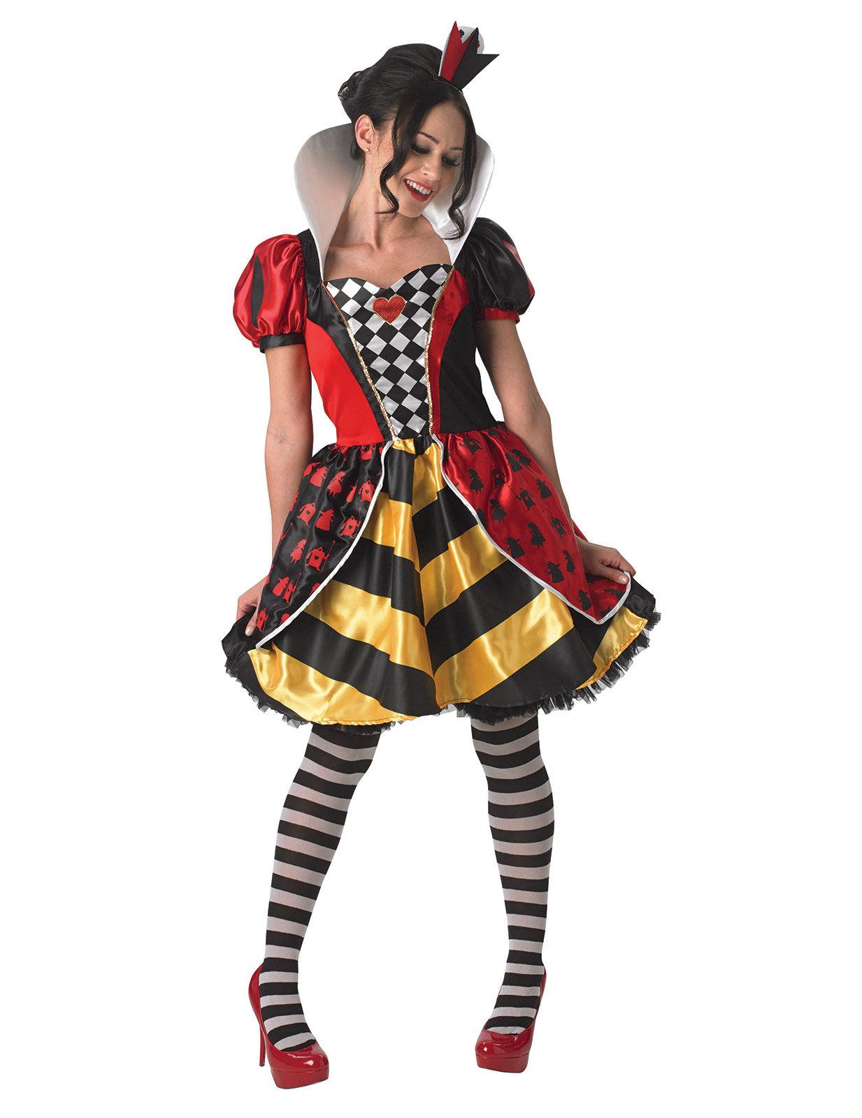 costume regina di cuore donna alice nel paese delle. Black Bedroom Furniture Sets. Home Design Ideas