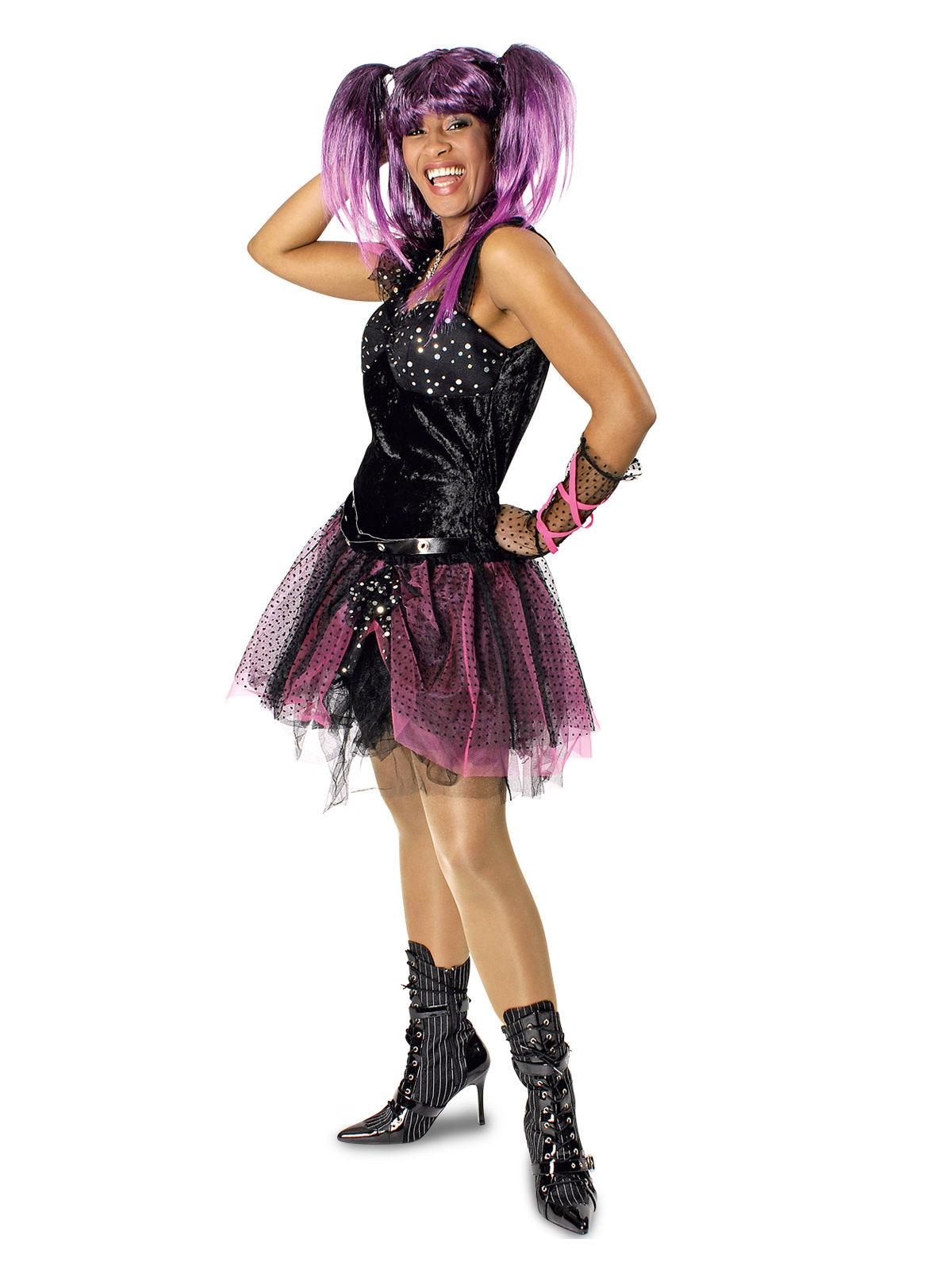 Costume Da Punk Rock And Roll In Tutu Per Donna Costumi Adulti E Vestiti Di Carnevale Online Vegaoo