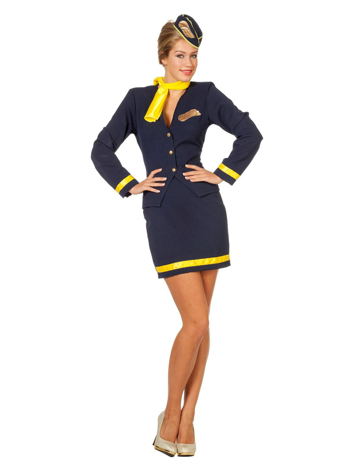 the best attitude 957dd fb657 Costume da Hostess retro sexy per donna: Costumi adulti,e ...