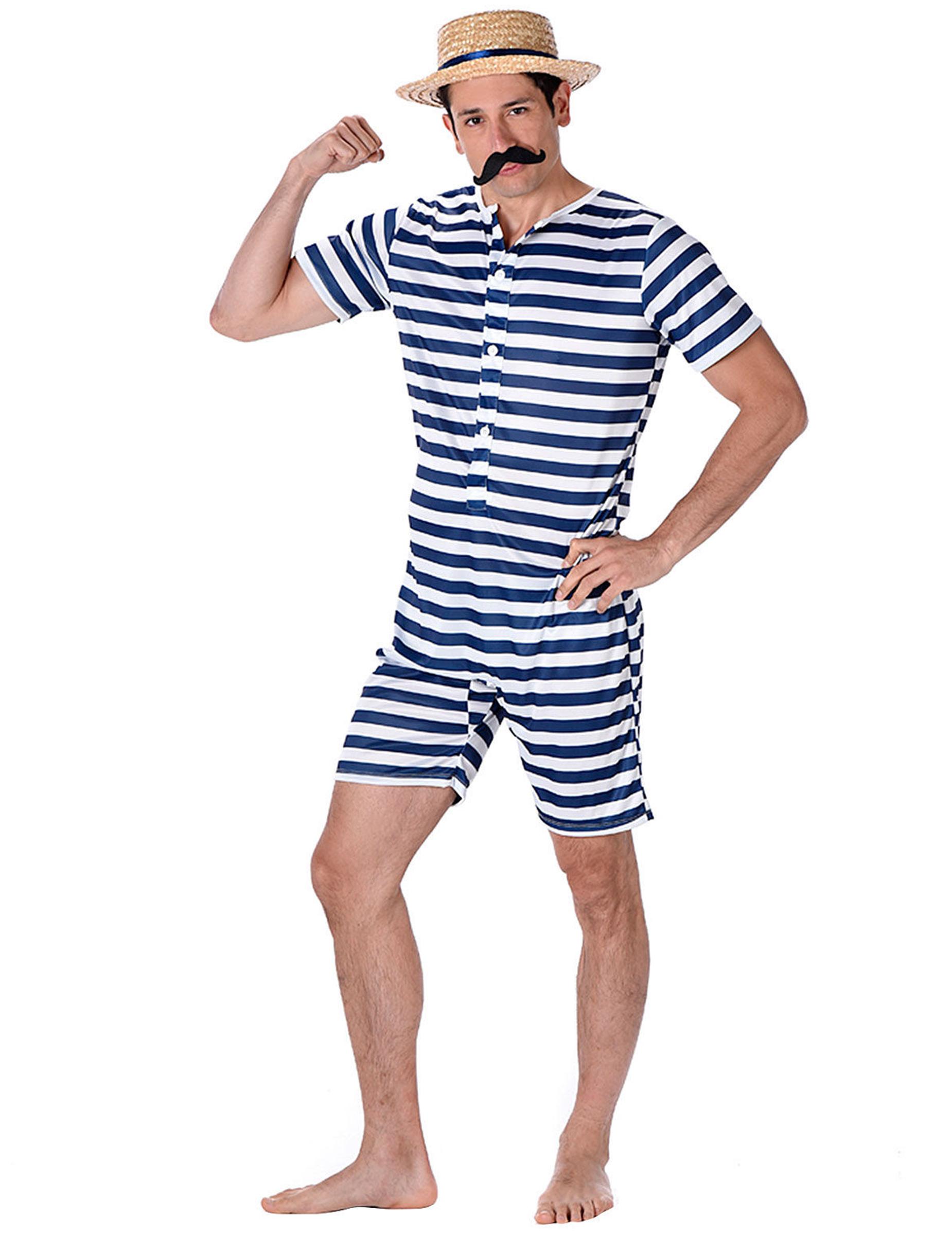 Costume da bagno retr per uomo costumi adulti e vestiti di carnevale online vegaoo - In costume da bagno ...