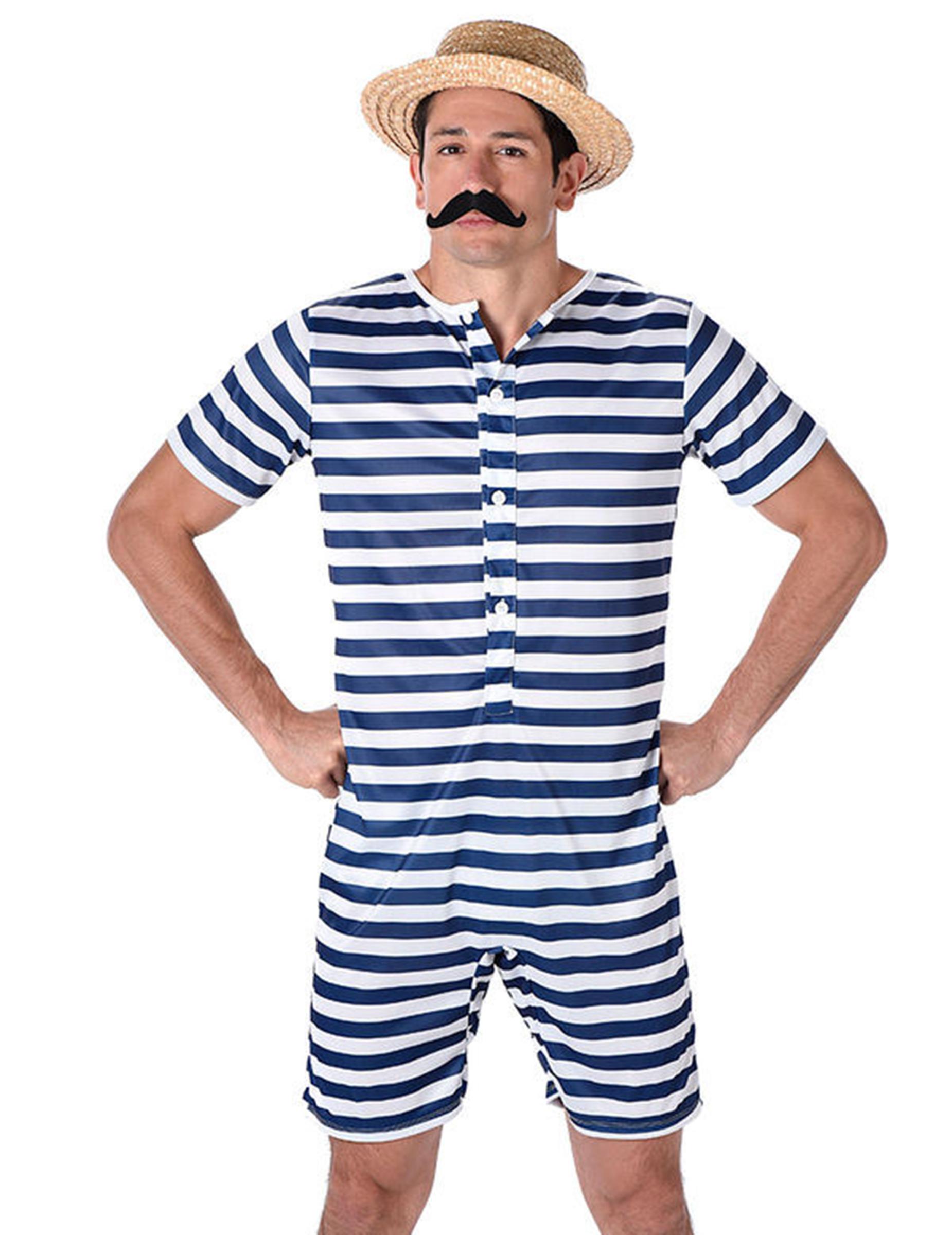 Costume da bagno retrò per uomo: Costumi adulti,e vestiti di ...