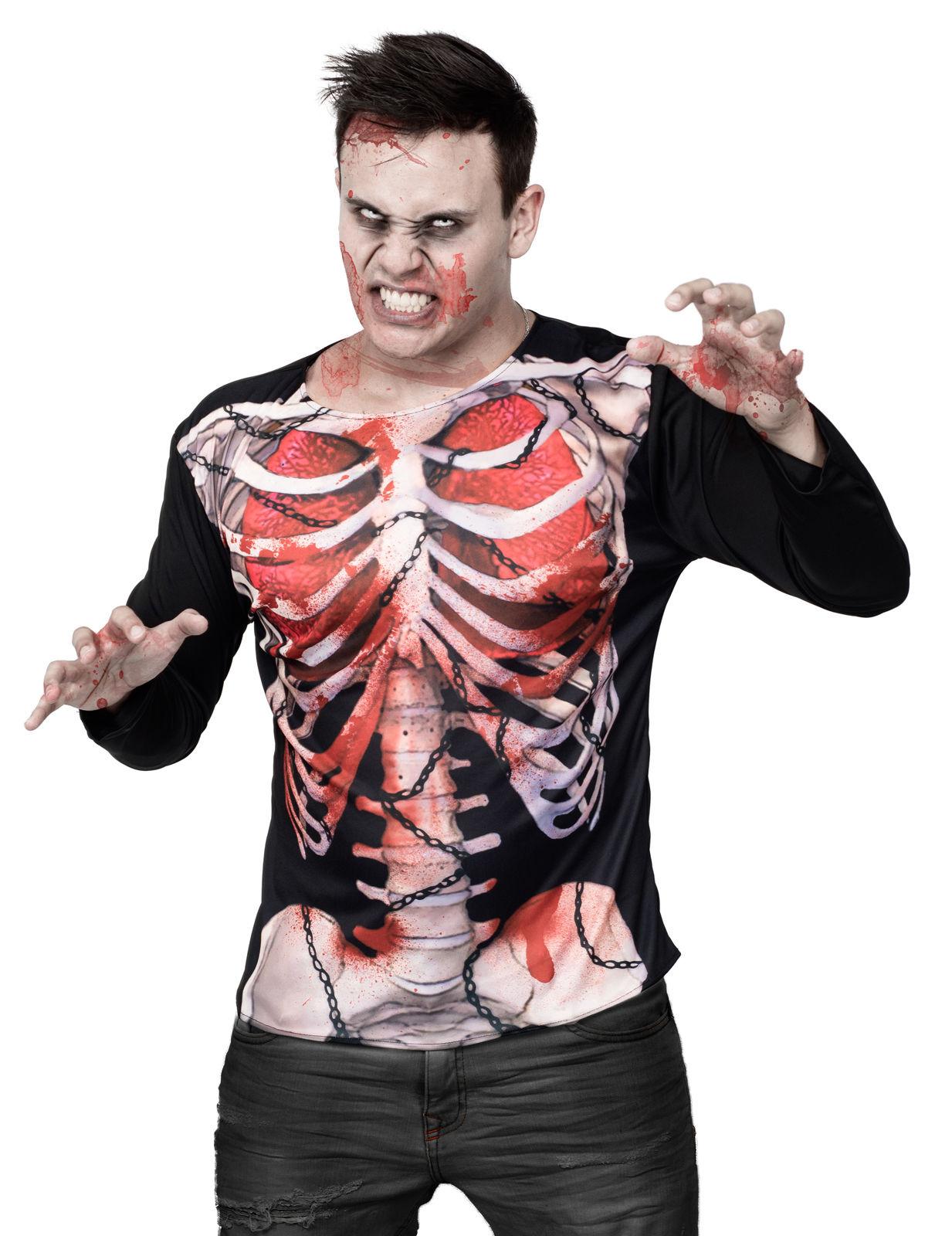 Maglietta da zombie con scheletro halloween costumi - Costumi da bagno con maglietta ...