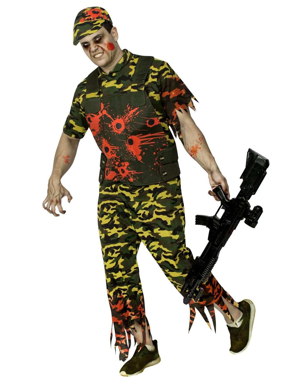 Costume soldato zombie mimetico per uomo halloween 602401d86c5a
