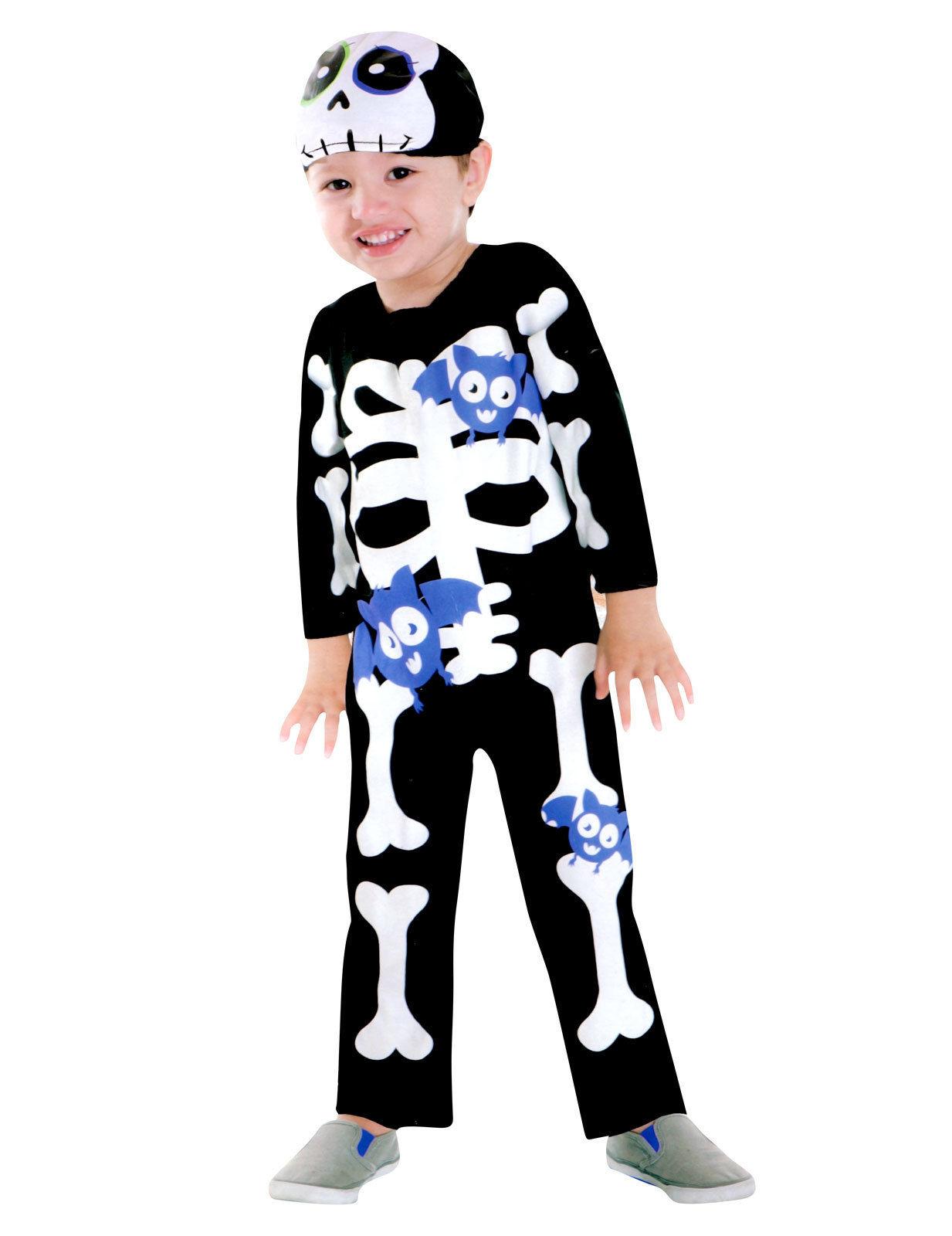 Costume da scheletro con pipistrelli per bambino Halloween  Costumi ... 228abc21d60
