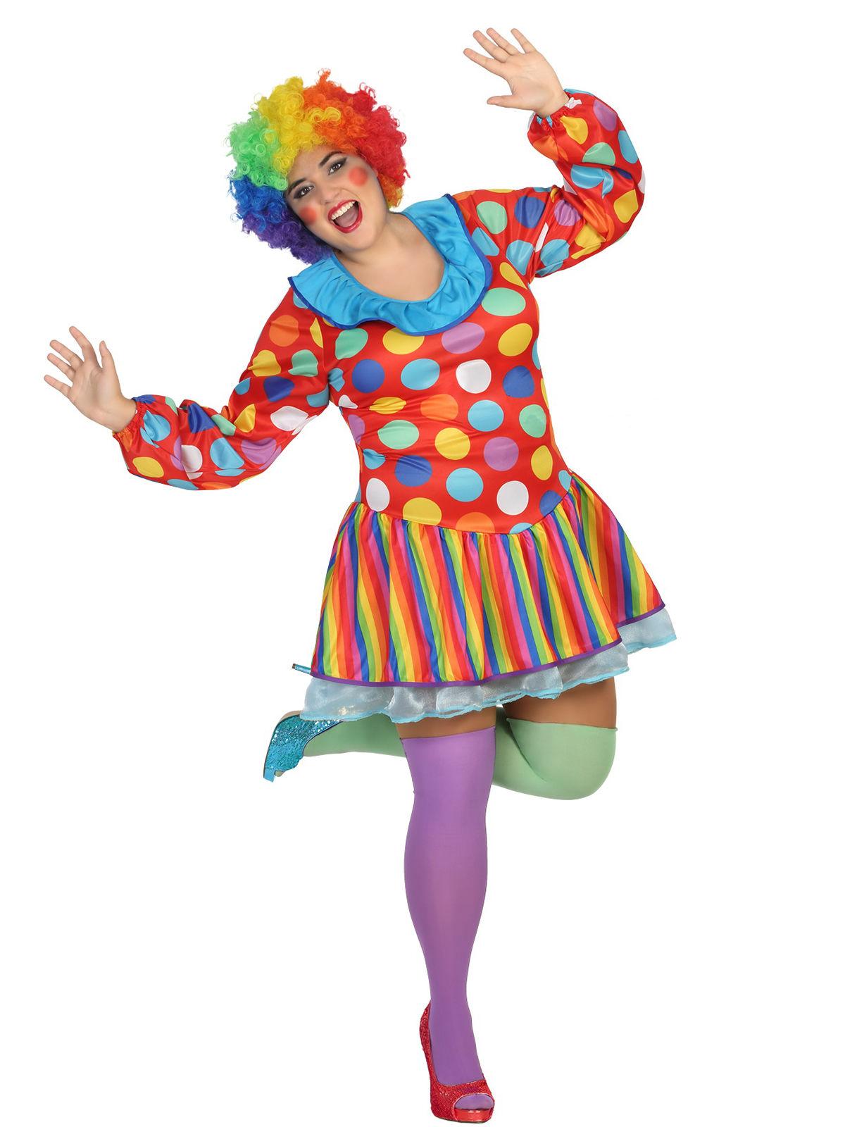 4db2a72a14 Costume da clown per donna taglia grande: Costumi adulti,e vestiti ...