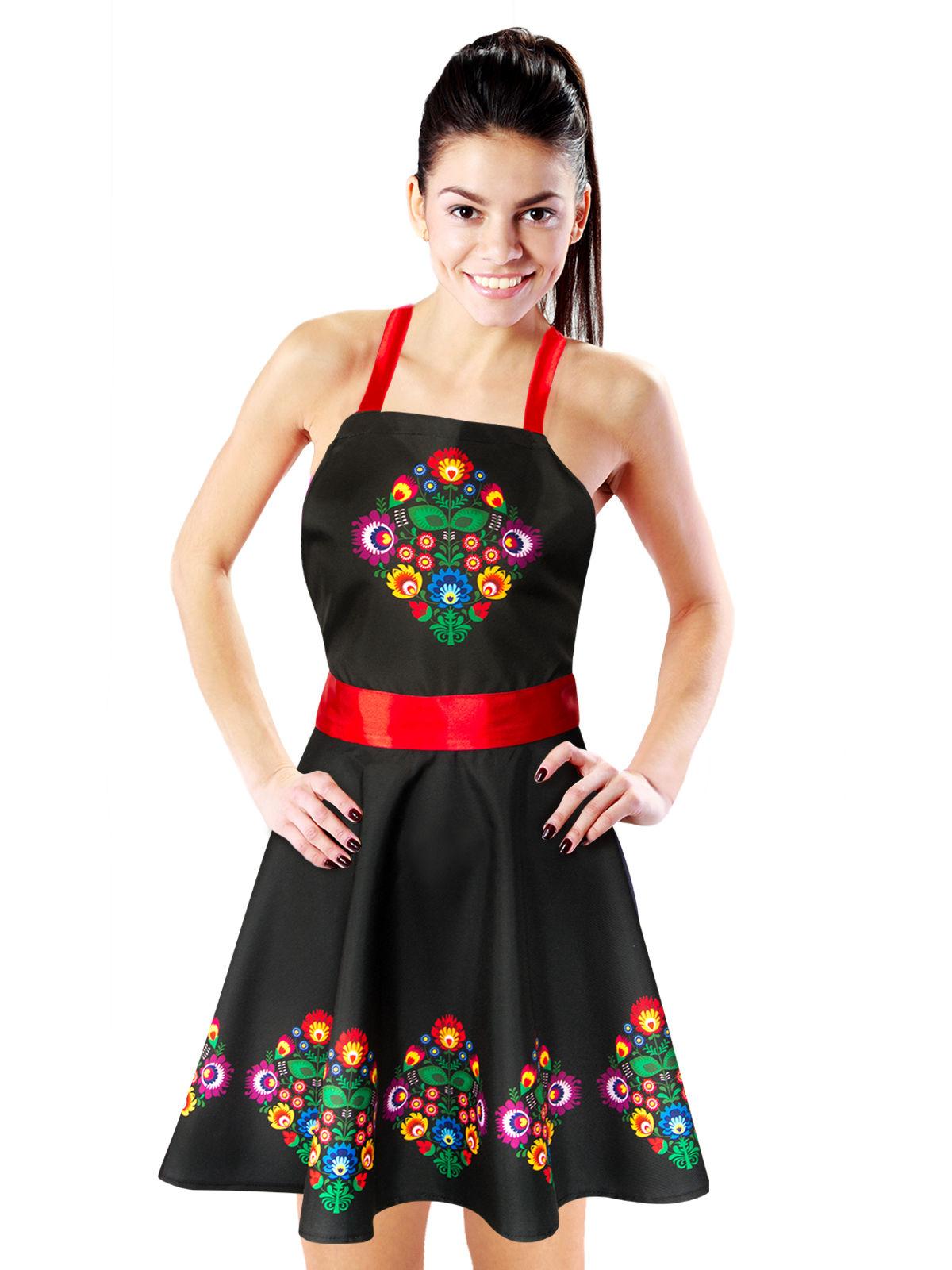 Vestito nero con fiori per donna  Costumi adulti 8a7985dee18