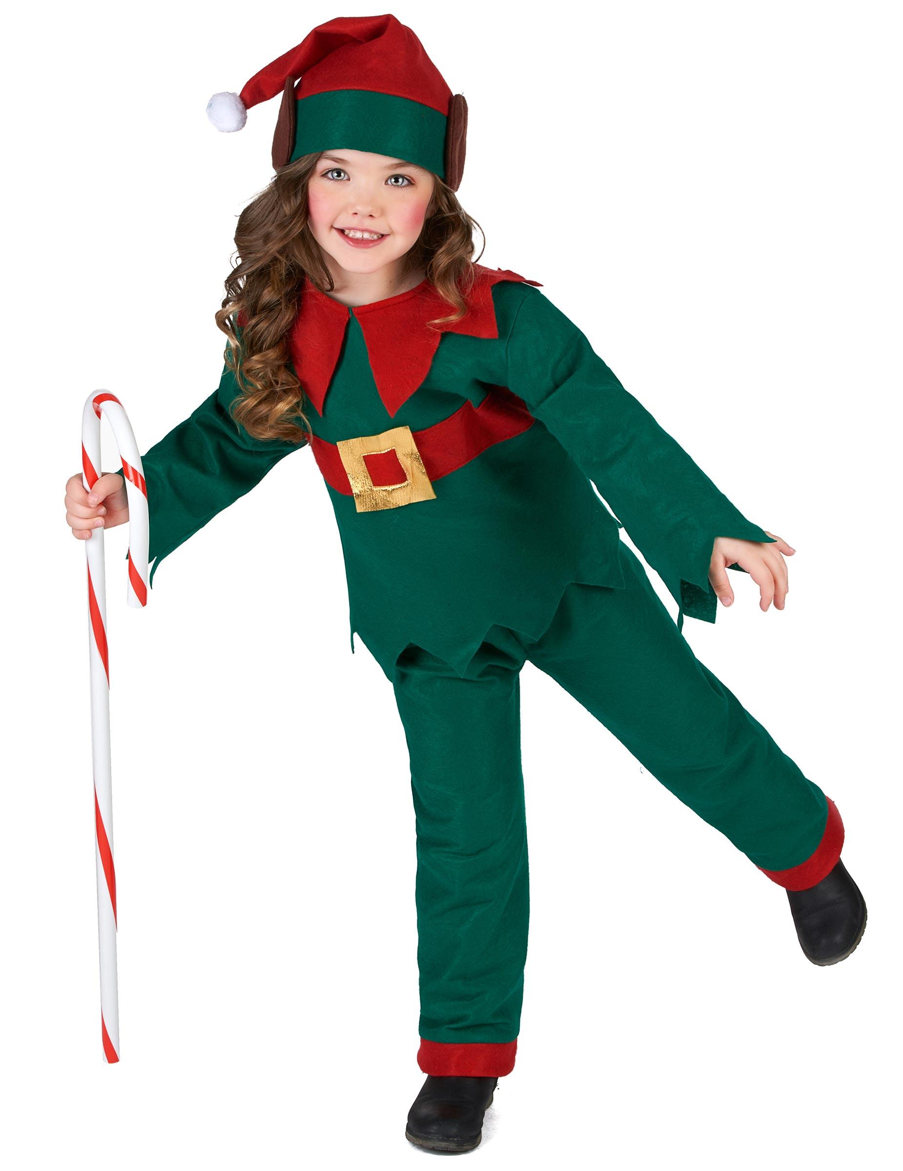 seleziona per autentico colori armoniosi vendita all'ingrosso Costume da elfo di natale per bambini