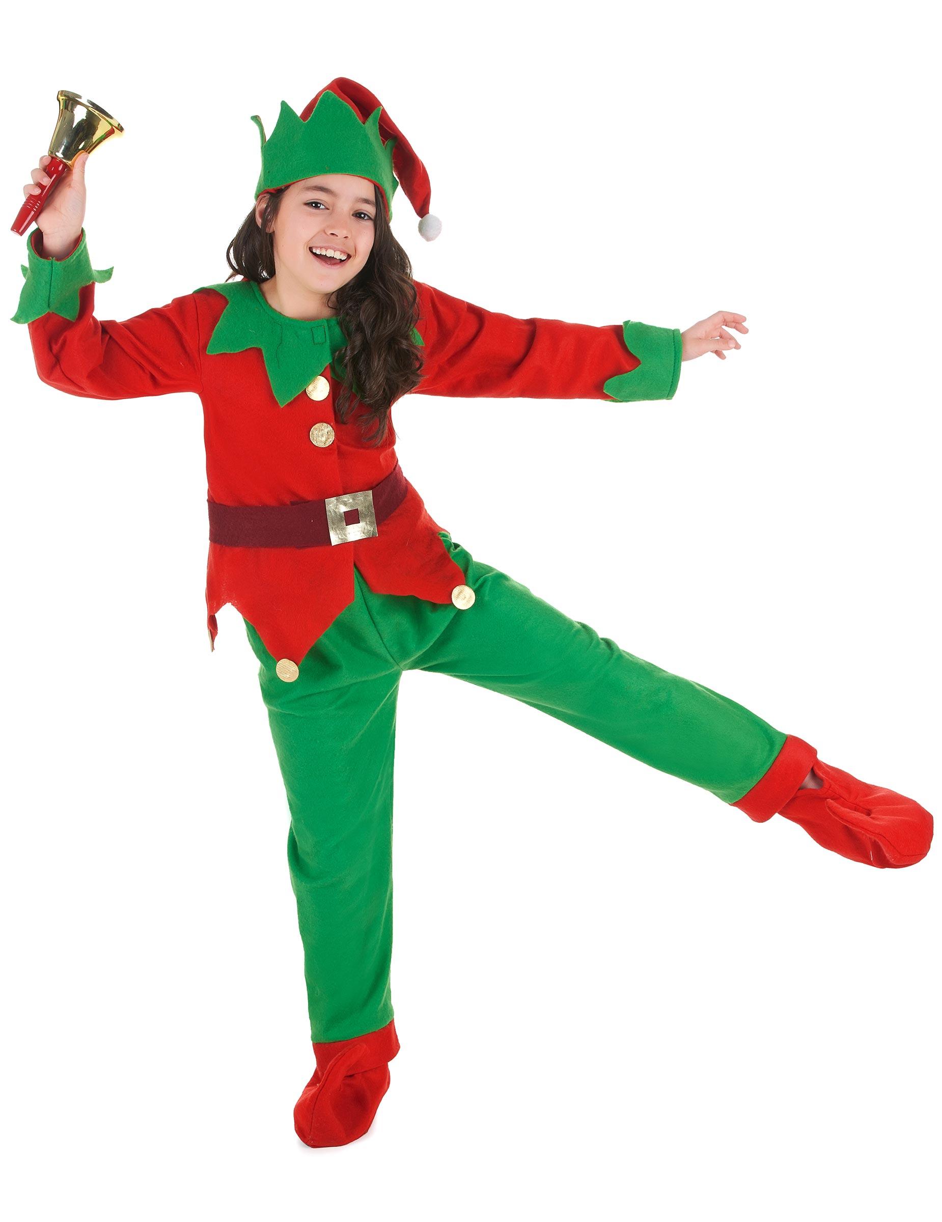 89ab6d6e4128 Costume Elfo di natale per bambino: Costumi bambini,e vestiti di ...