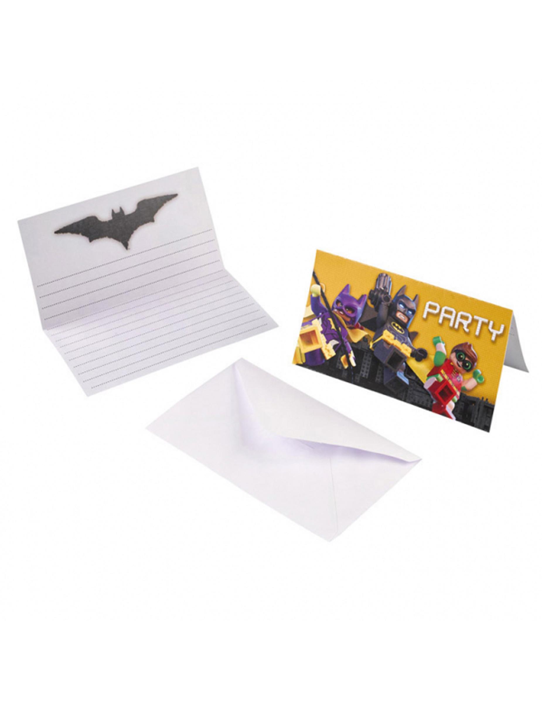 """8 Inviti e Busta da lettera Lego Batman¢""""¢ Addobbi e vestiti di"""