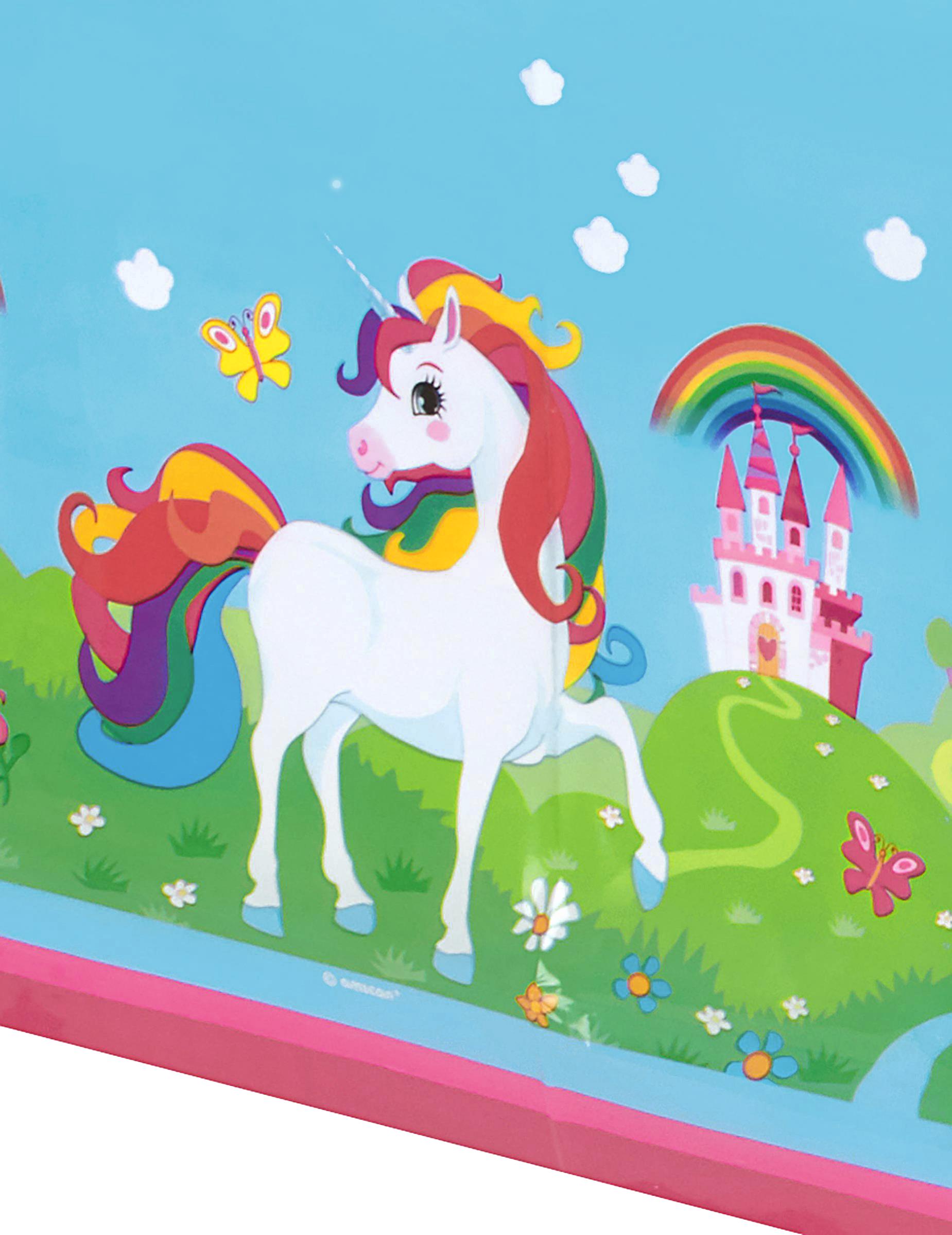 Tovaglia Di Plastica Unicorno Arcobaleno 120x180 Cm Addobbie