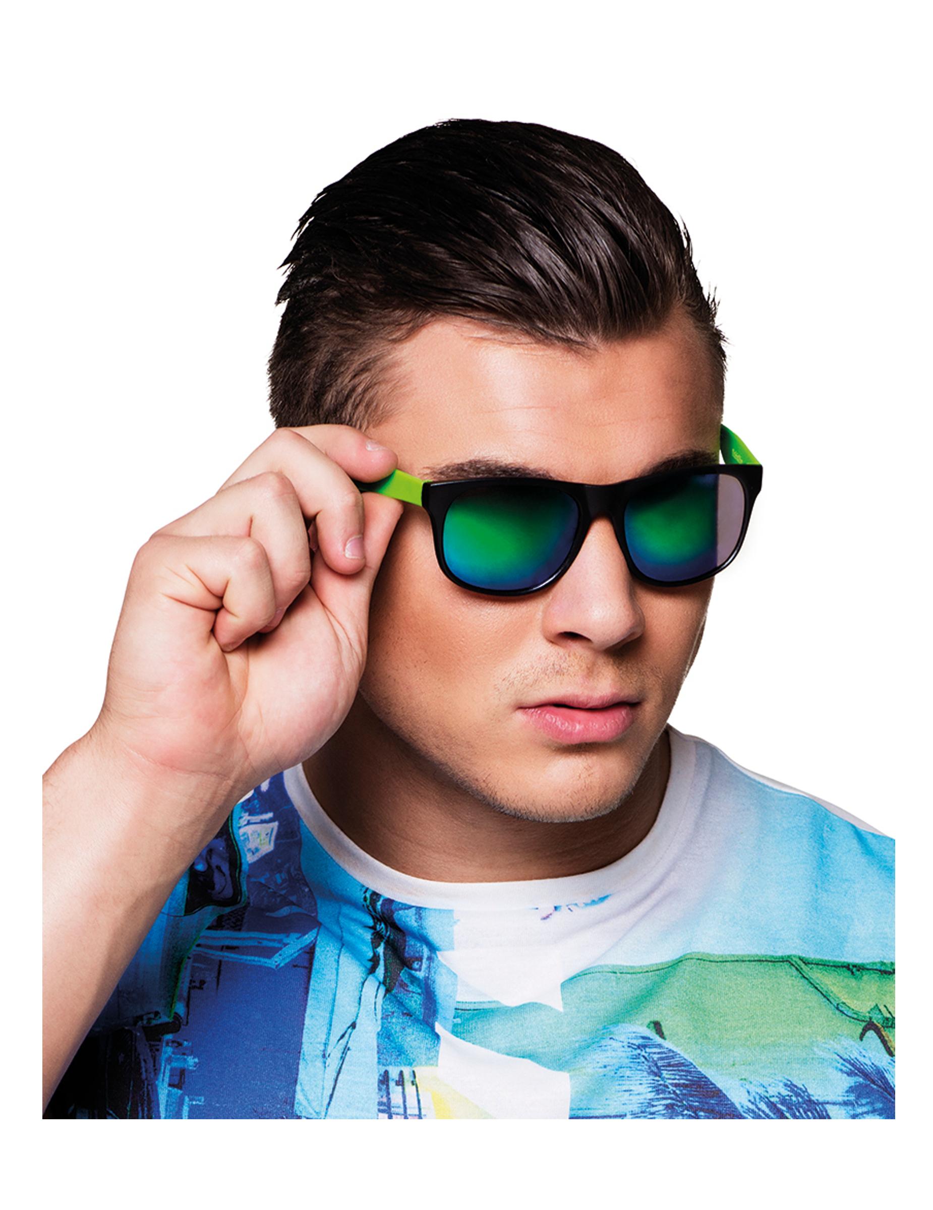 Occhiali a specchio colorati per adulto accessori e vestiti di carnevale online vegaoo - Occhiali per truccarsi allo specchio ...
