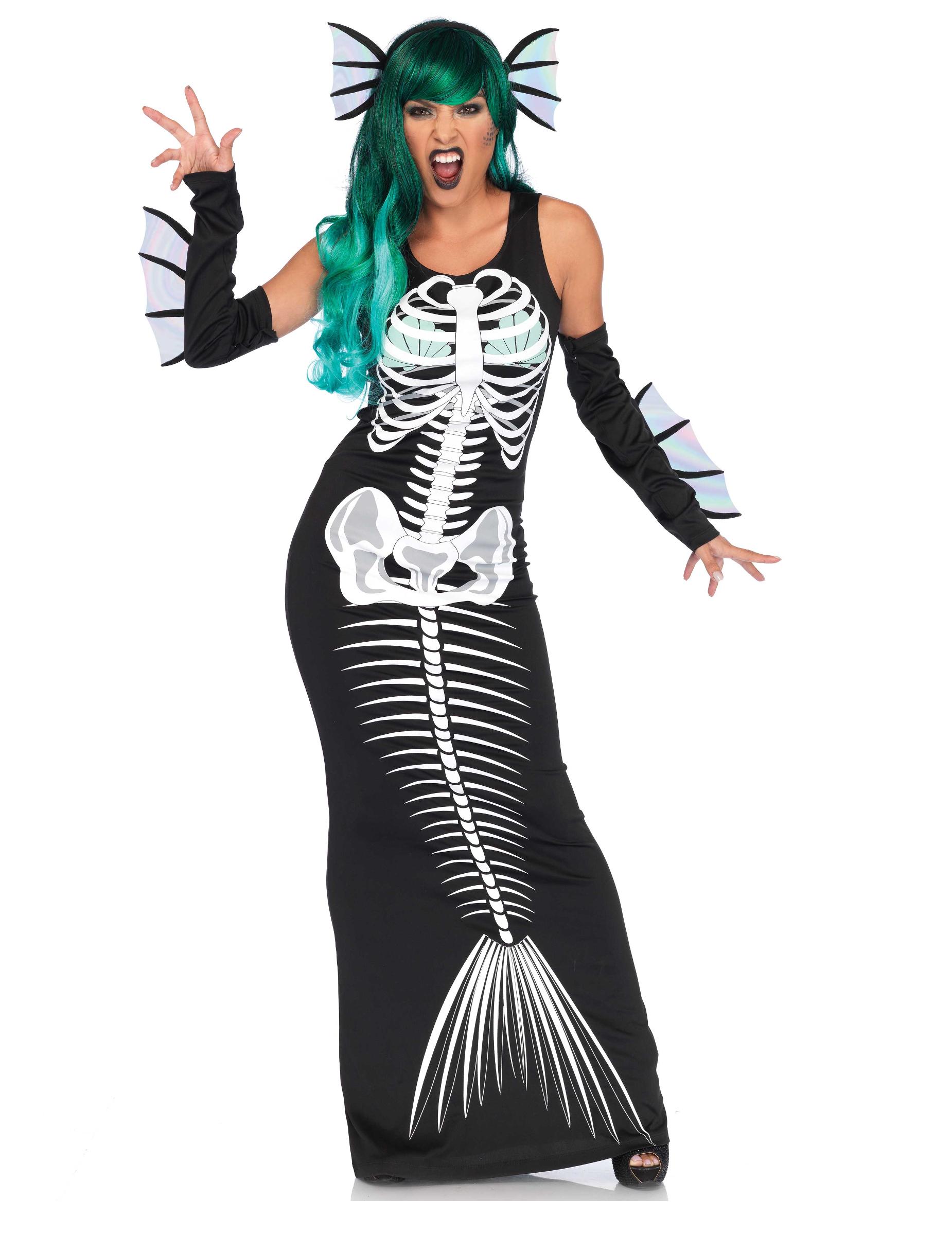 Costume Halloween scheletro da sirena  Costumi adulti b5d70c729006