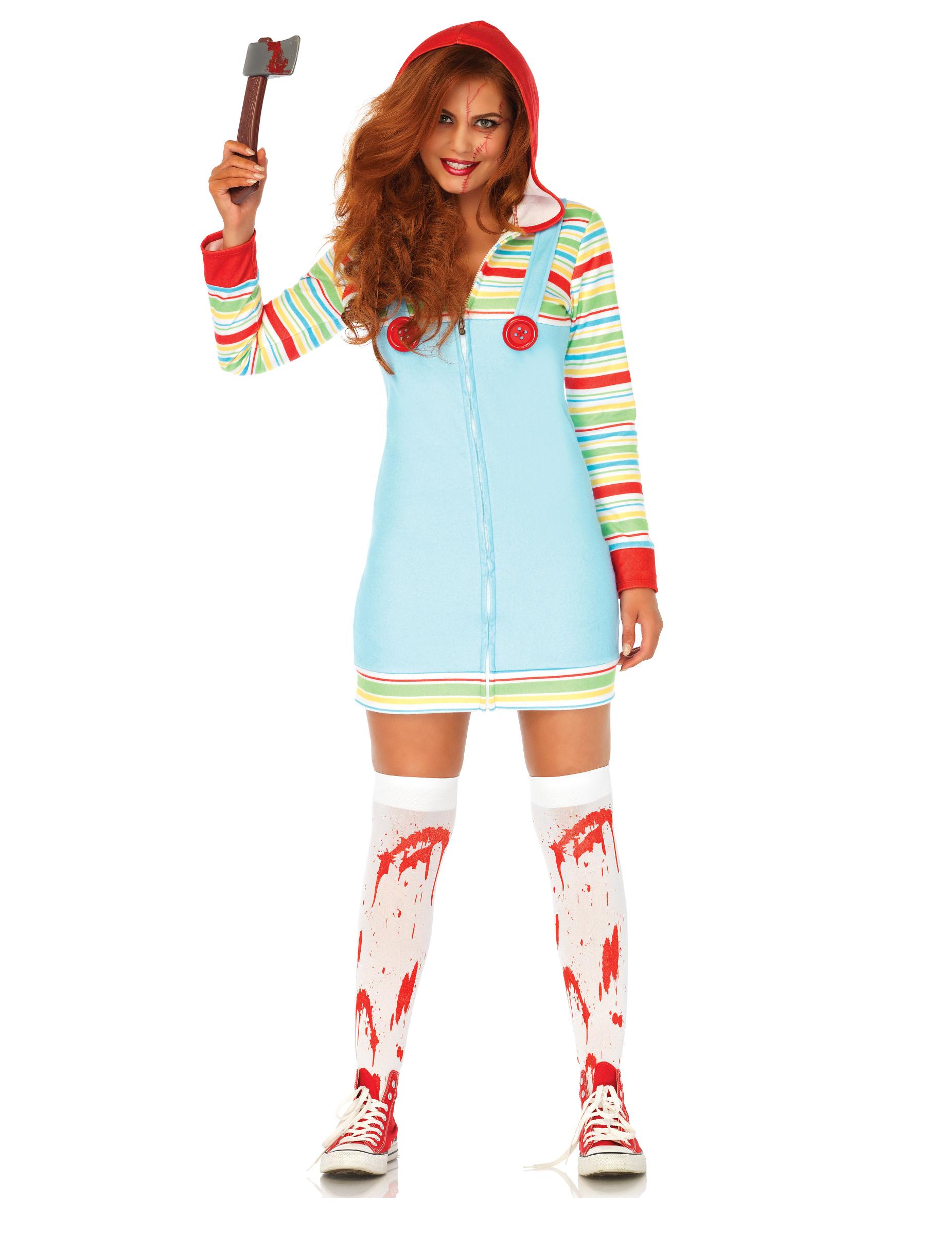 fabbrica come ottenere dopo Costume da bambola assassina per donna halloween