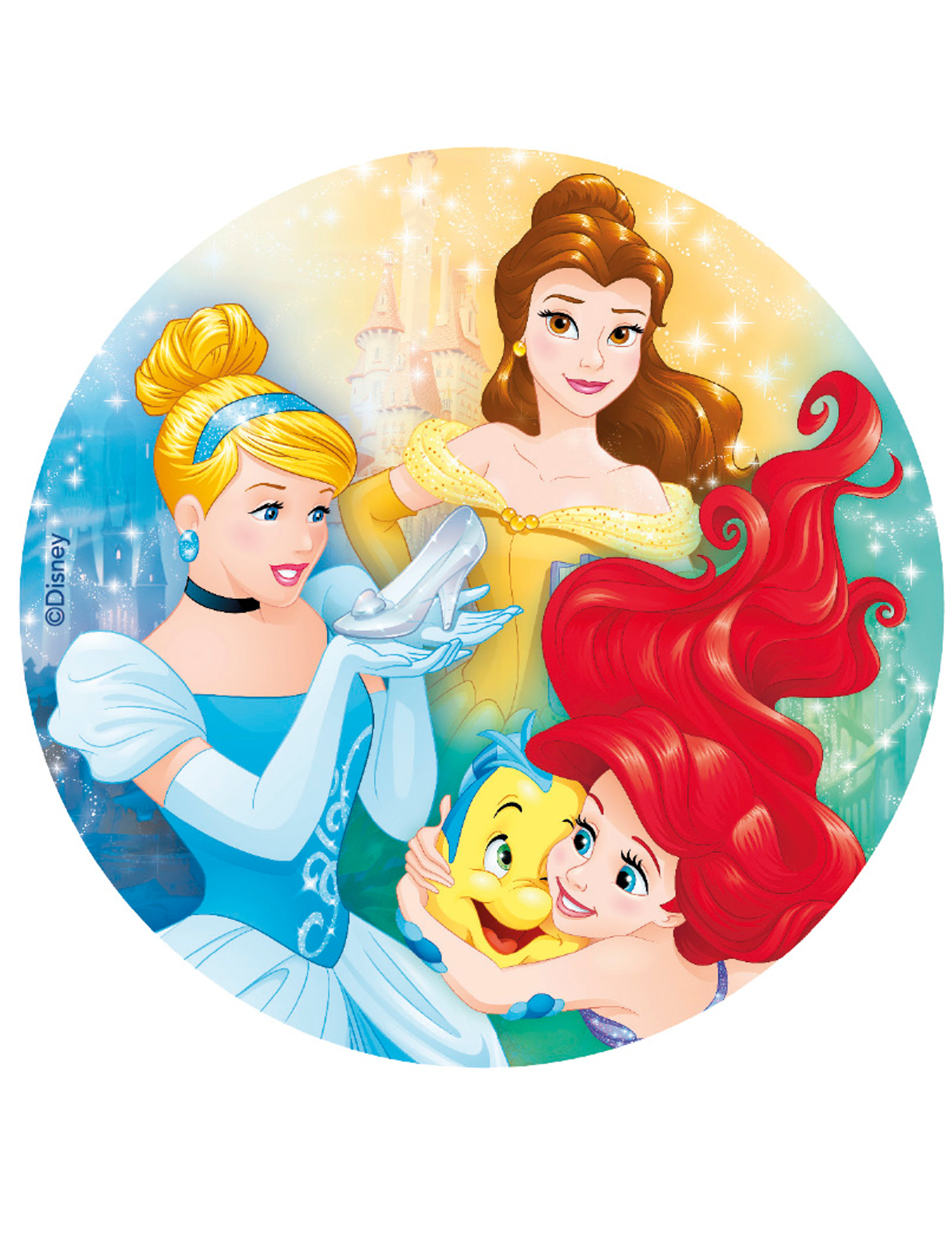 Ostia per torte Principesse Disney™: Addobbi,e vestiti di ...