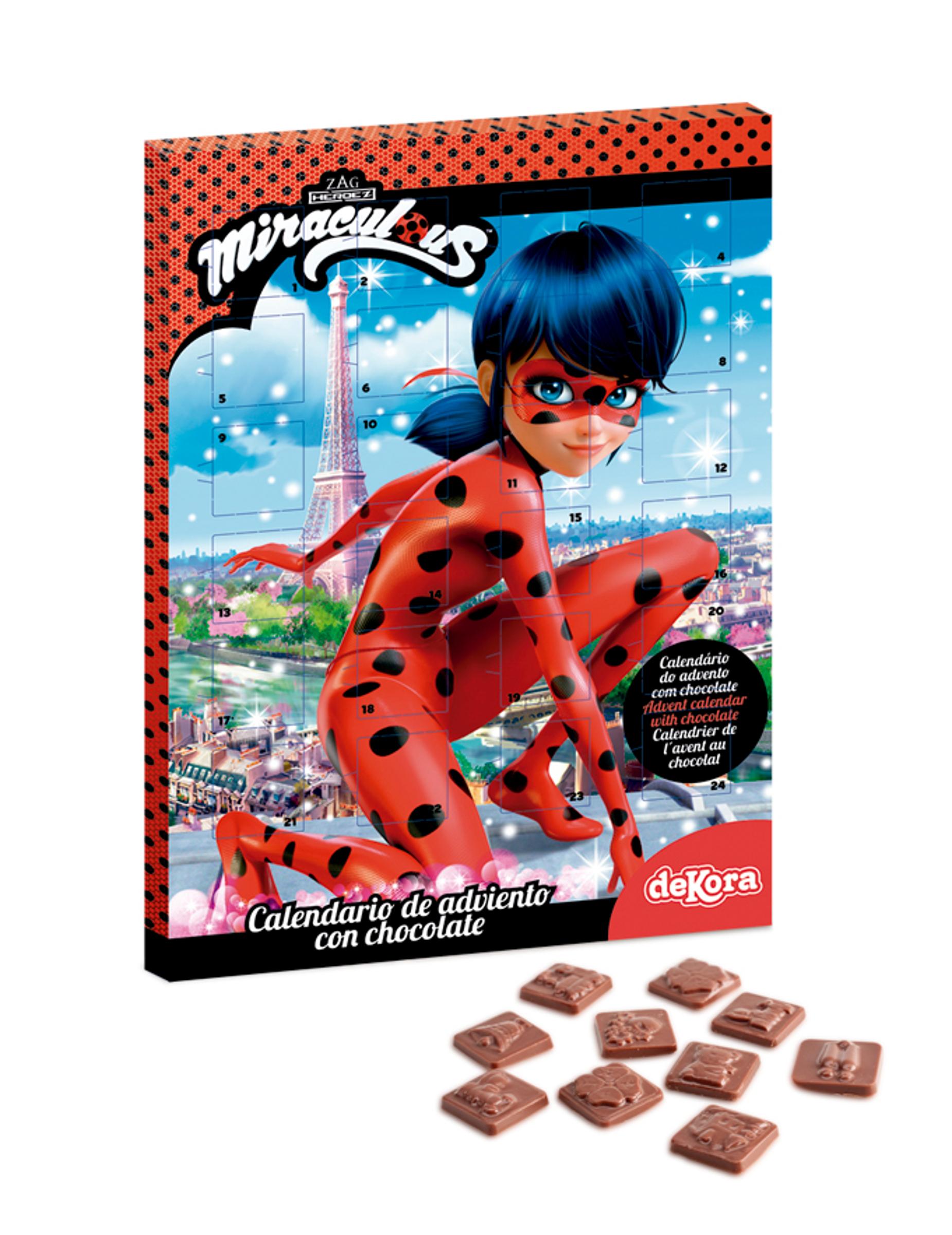 Calendario Dellavvento Con Cioccolato Ladybug Addobbie Vestiti