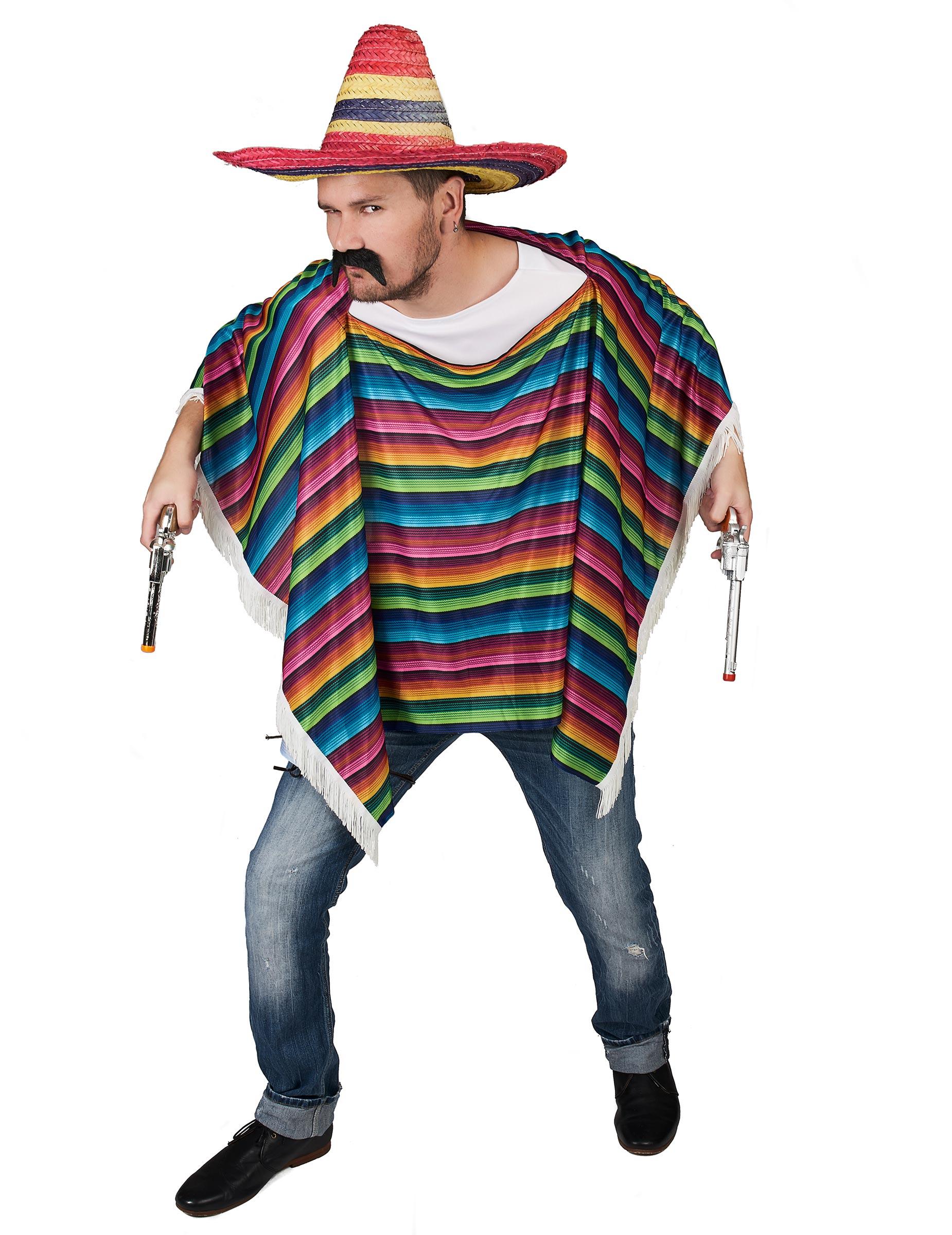 Poncho da messicano multicolore a frange per adulto  Costumi adulti ... f405e909a68c