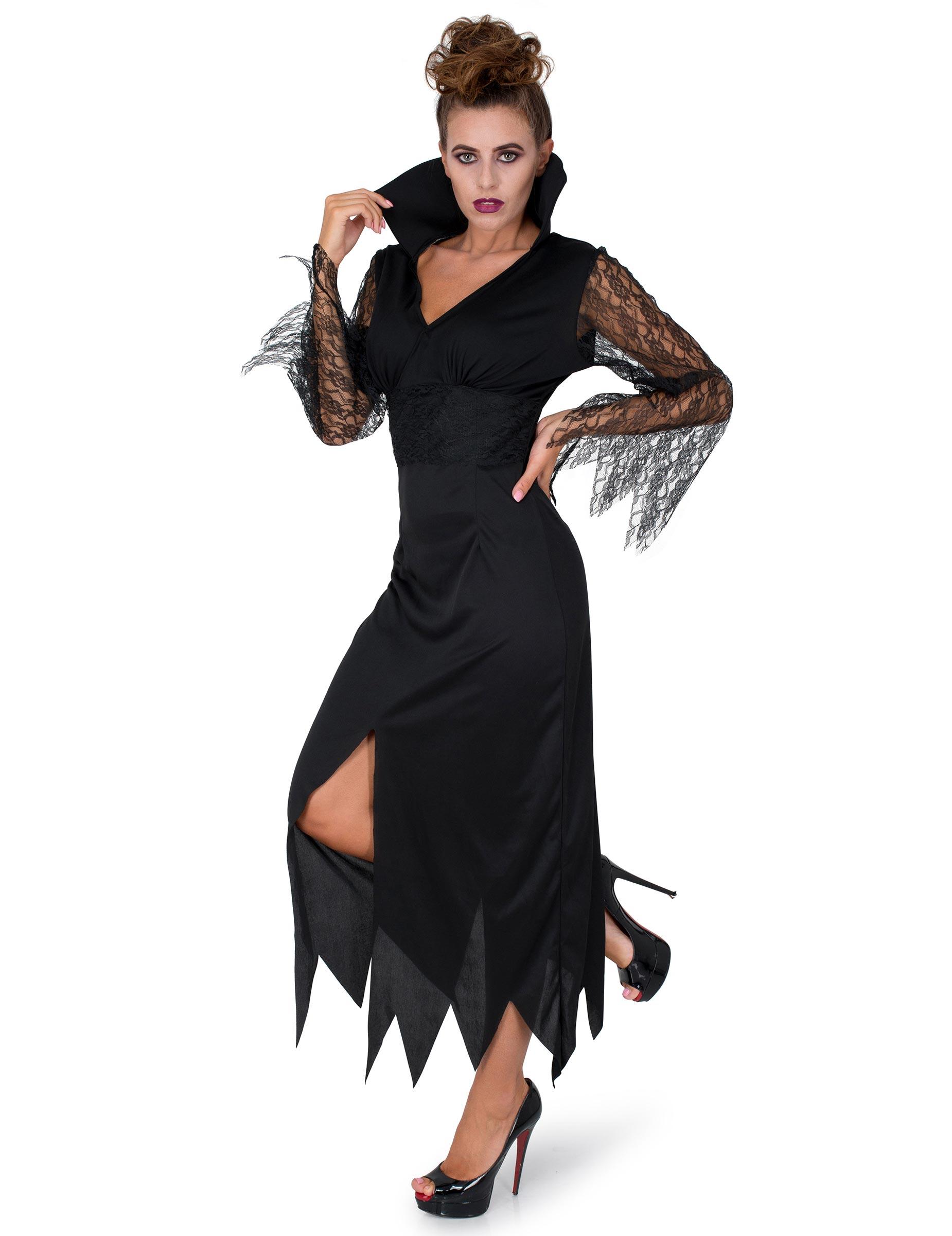 Vestiti Halloween Strega.Costume Di Pizzo Da Strega Per Donna Halloween