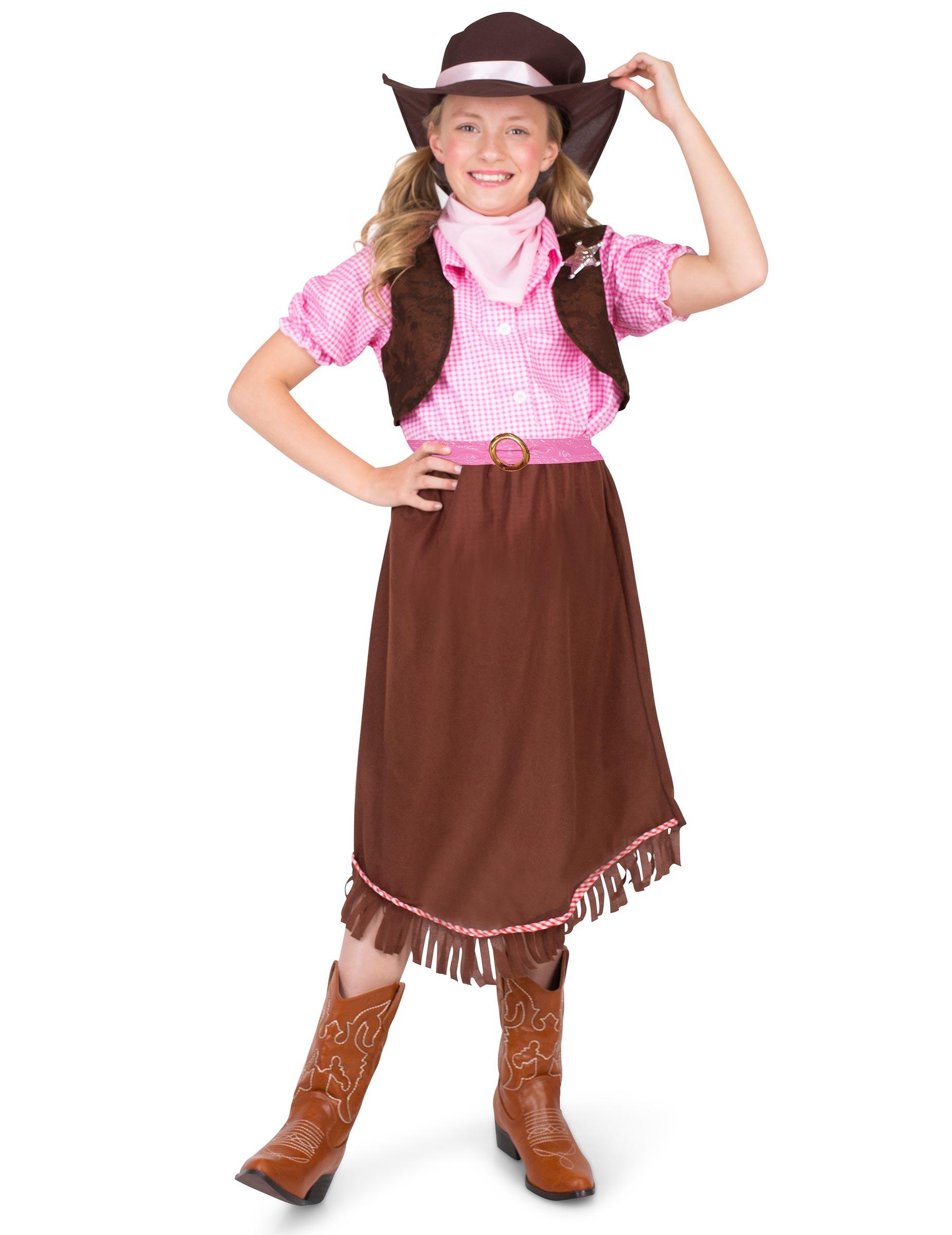 7079da1c315a Costume da sceriffo per bambina: Costumi bambini,e vestiti di ...