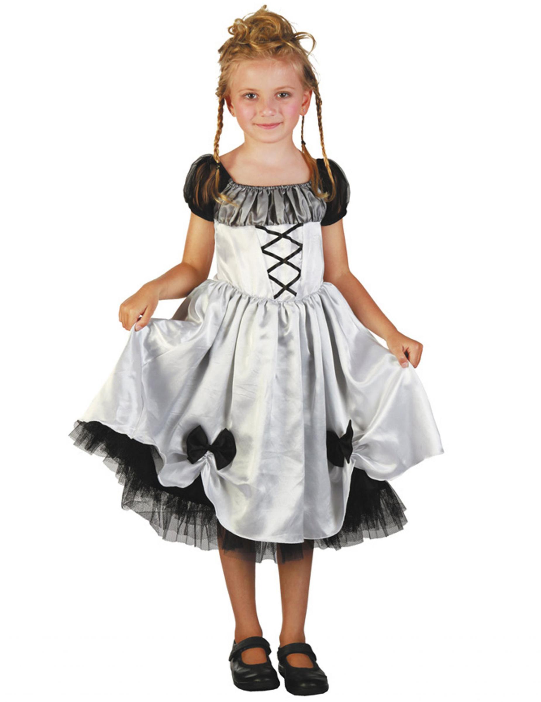 1dbaf362a800 Costume sposa bianco e nero bambina halloween  Costumi bambini