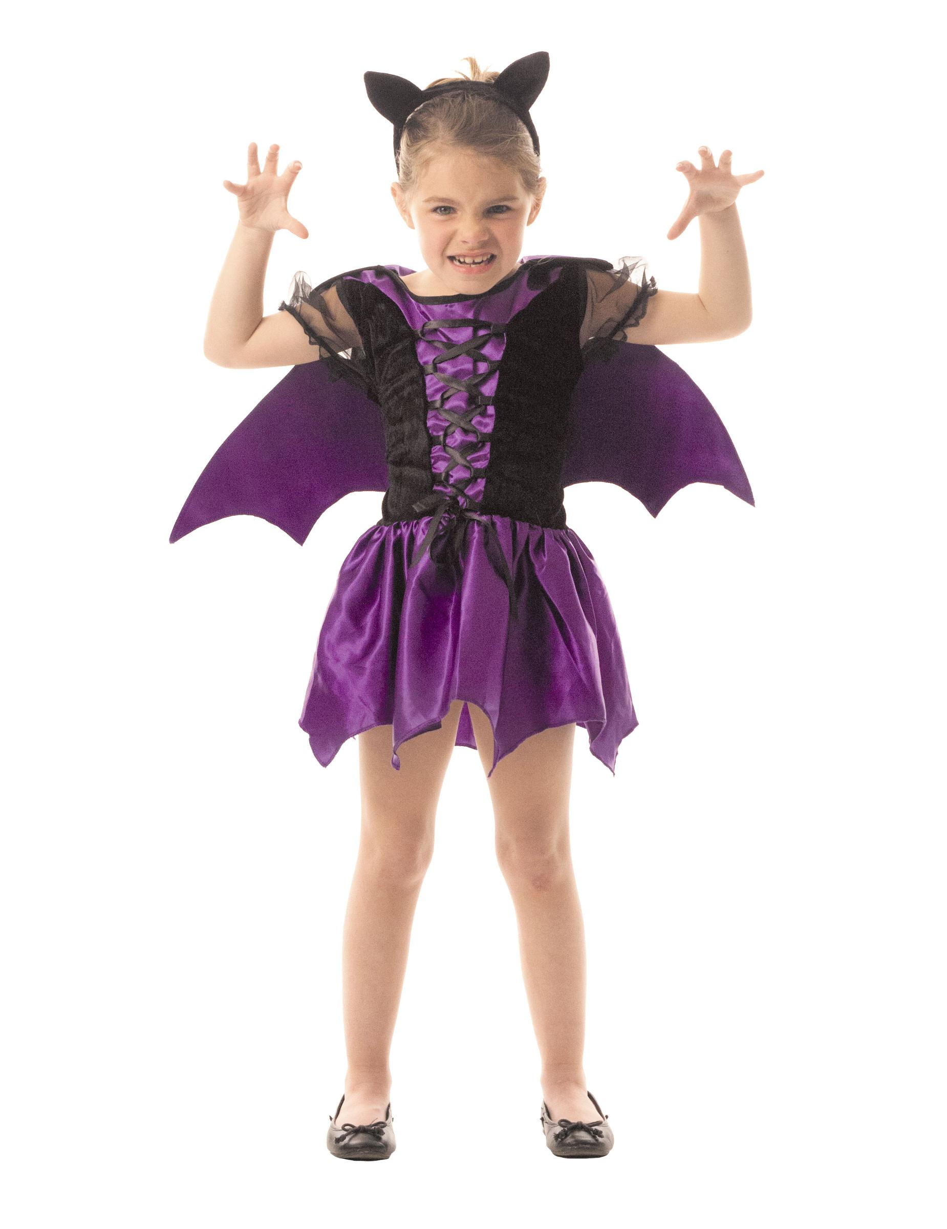 Costume da pipistrello viola bambina halloween  Costumi bambini fba28e3a593f