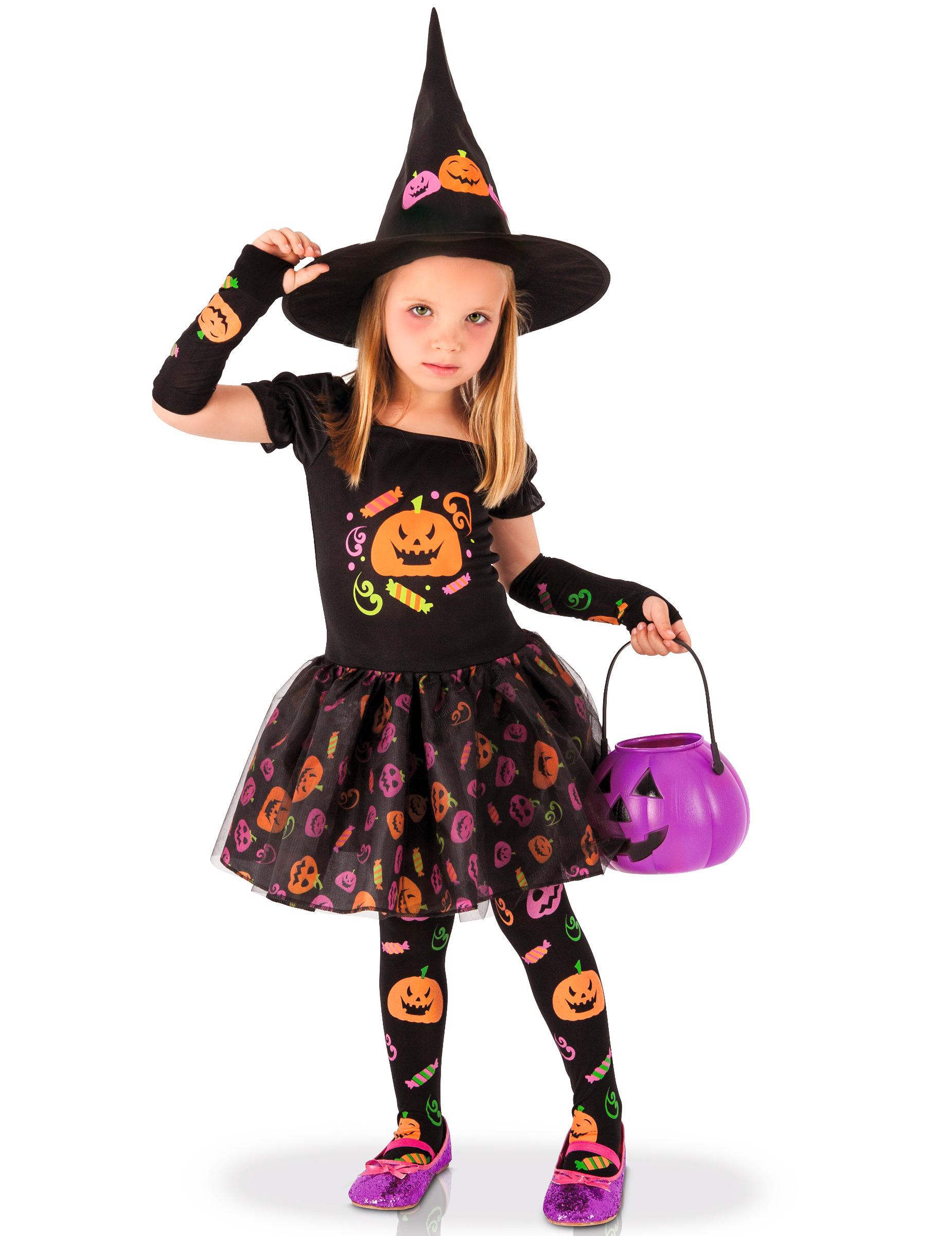 Costume strega zucca bambina  Costumi bambini 1bac05b7c461