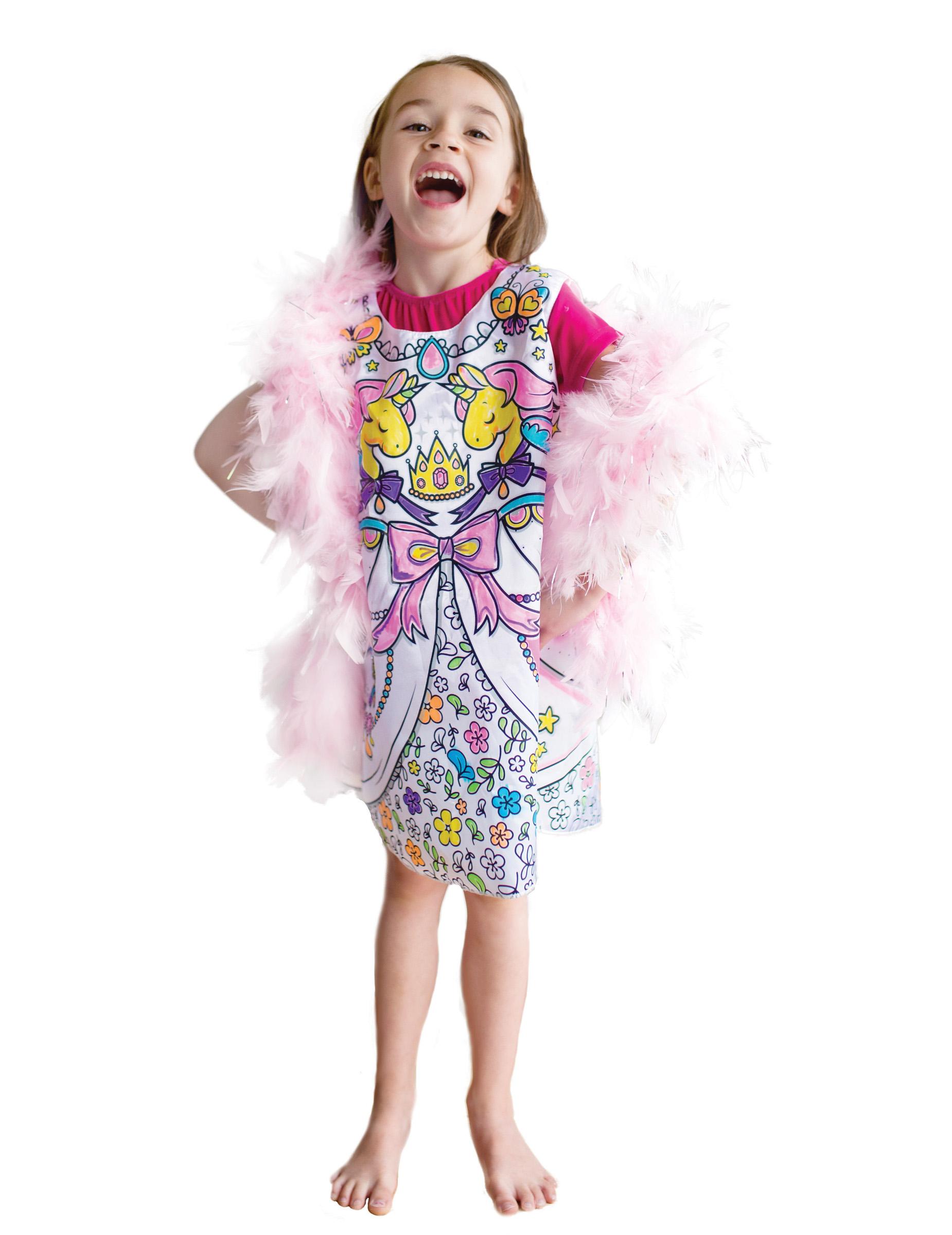 Vestito Da Colorare Principessa Bambina Costumi Bambini E Vestiti