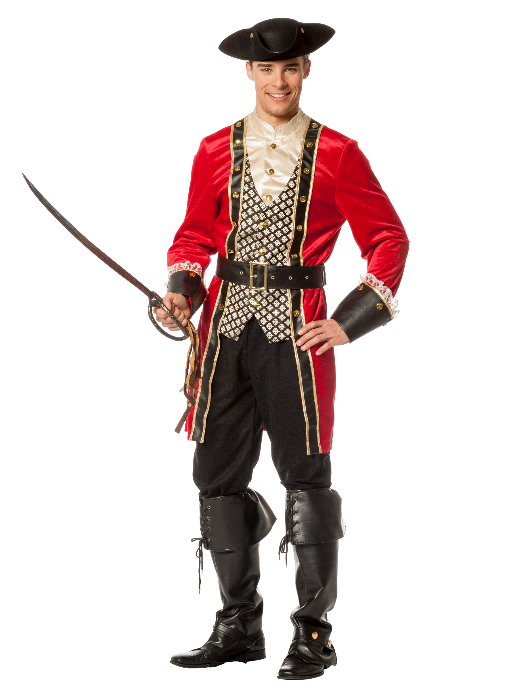 costume capitano dei pirati de luxe per uomo costumi adulti e vestiti di carnevale online vegaoo. Black Bedroom Furniture Sets. Home Design Ideas
