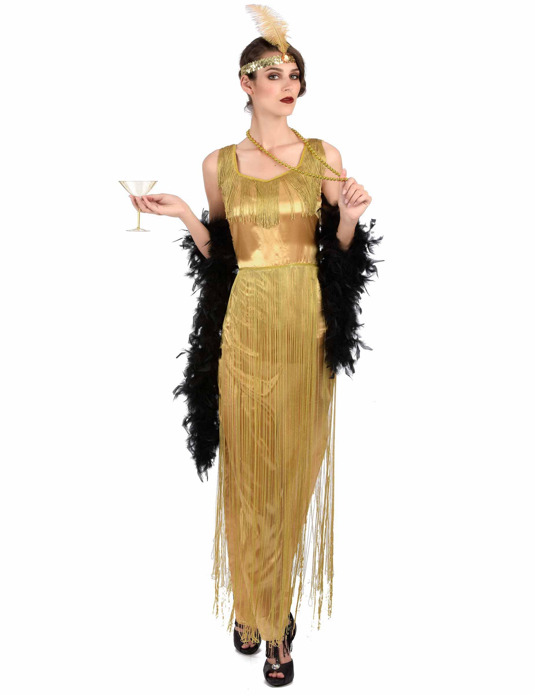 Costume charleston dorato a frange per donna costumi - Costume da bagno anni 30 ...