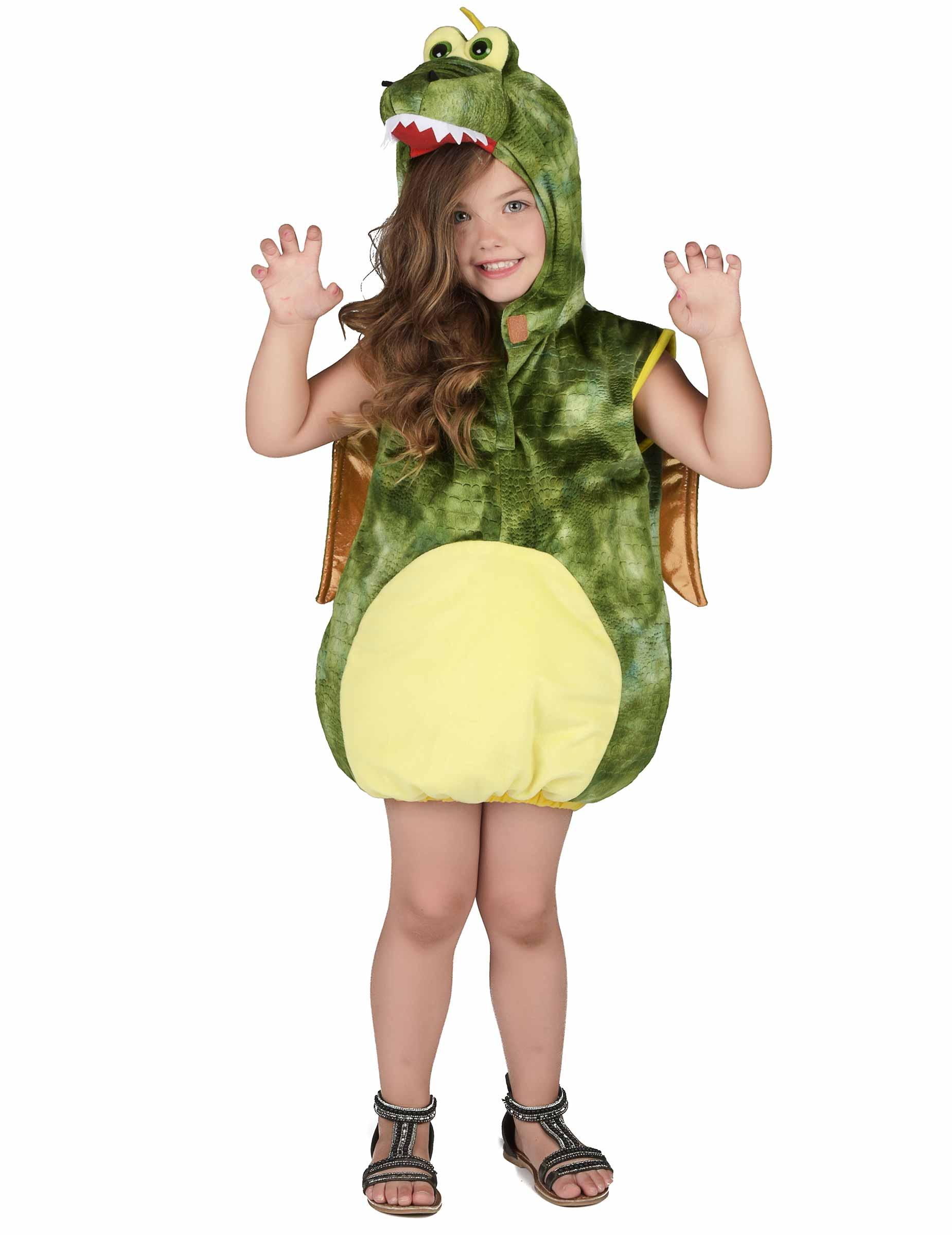 nuovi arrivi bellissimo a colori buona vendita Costume da dinosauro verde per bambino