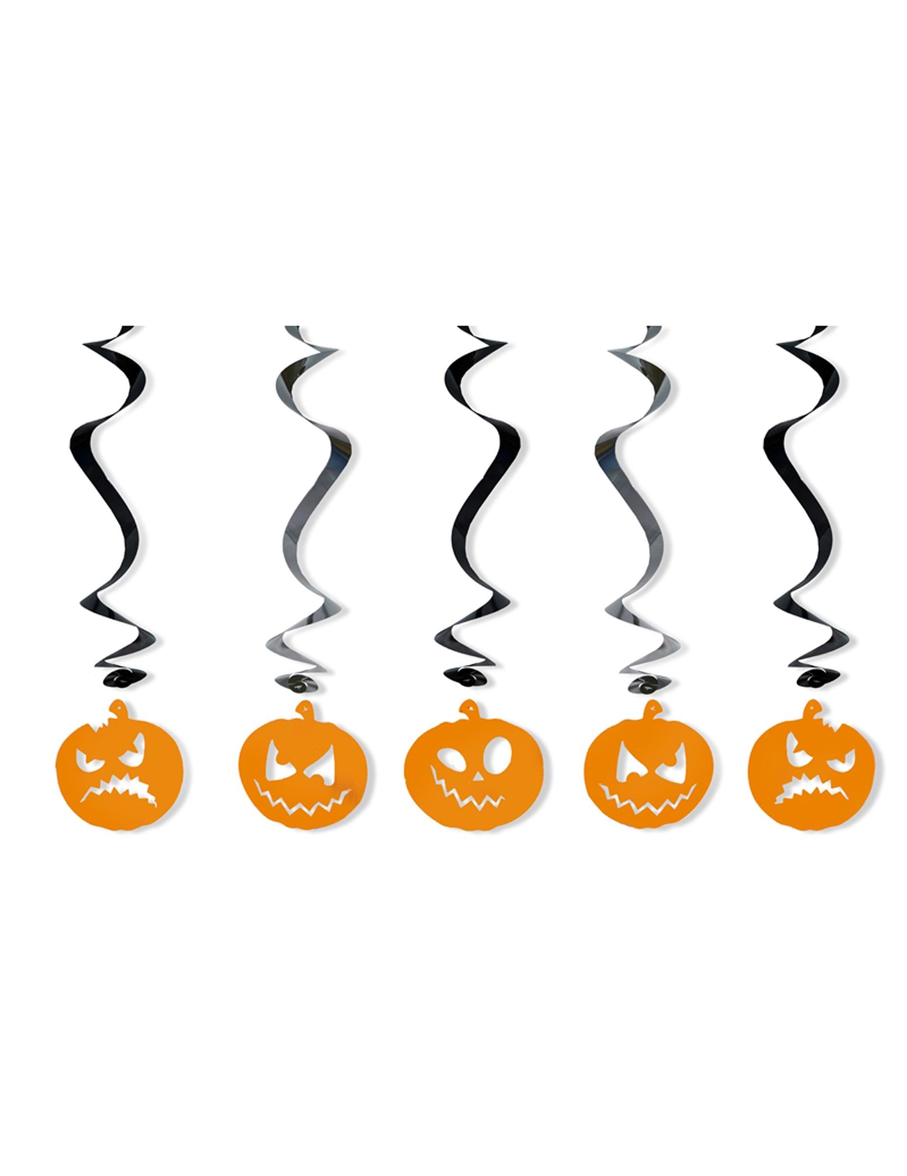 5 Decorazioni a sospensione zucca di halloween  Addobbi bddbc7ac67d6