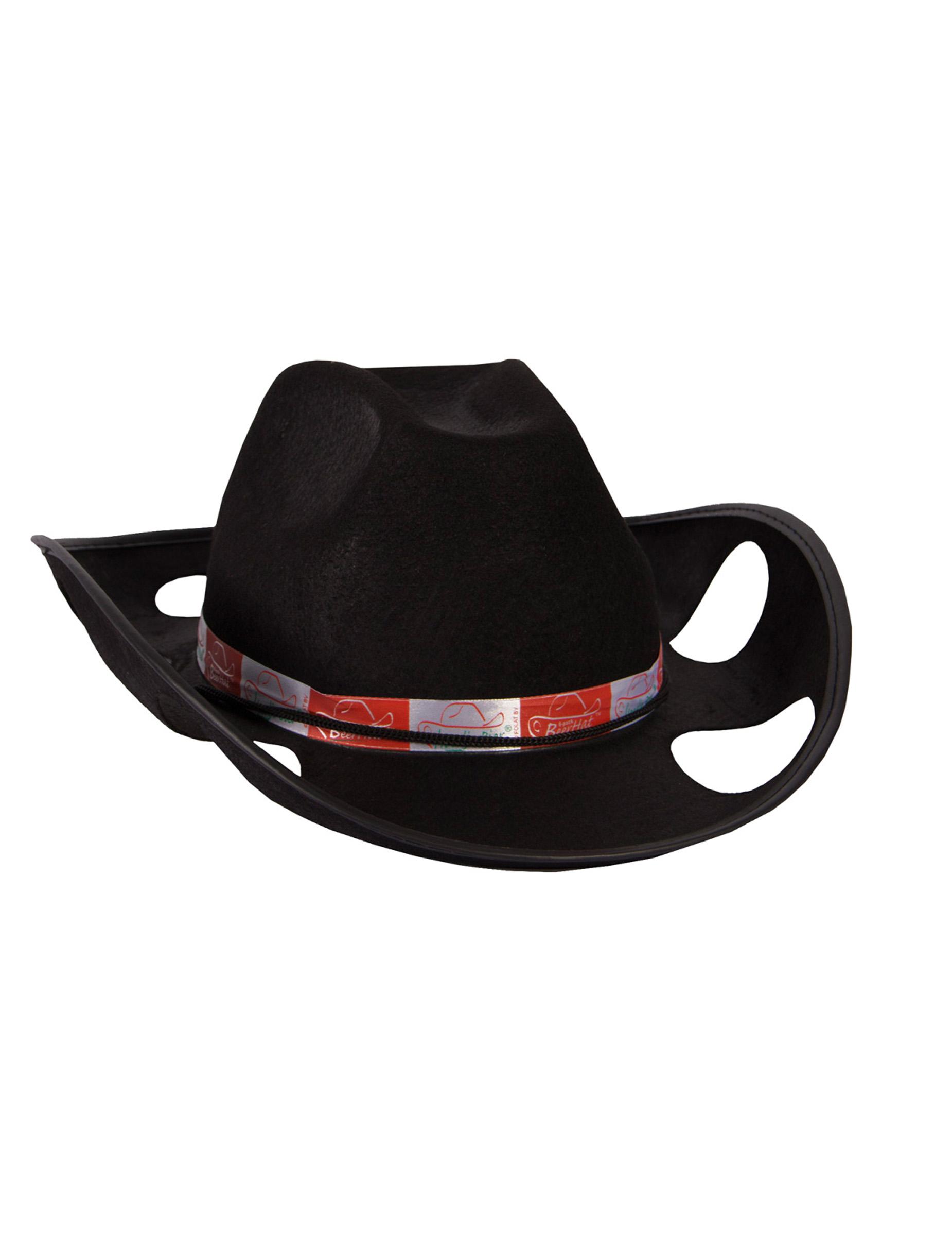 Cappello da cowboy porta bicchieri nero cappelli e for Porta cappelli