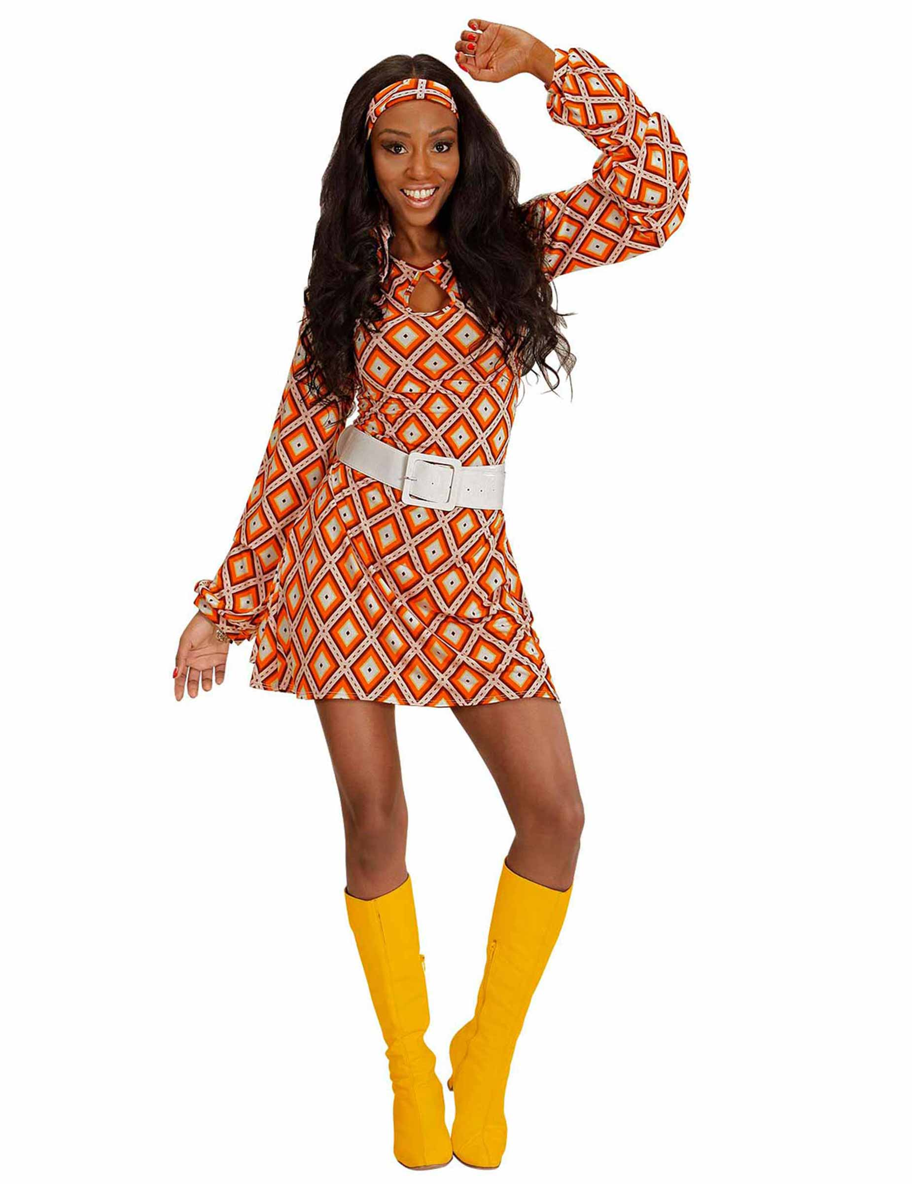1be80a464d26 Costume disco groovy anni 70 per donna