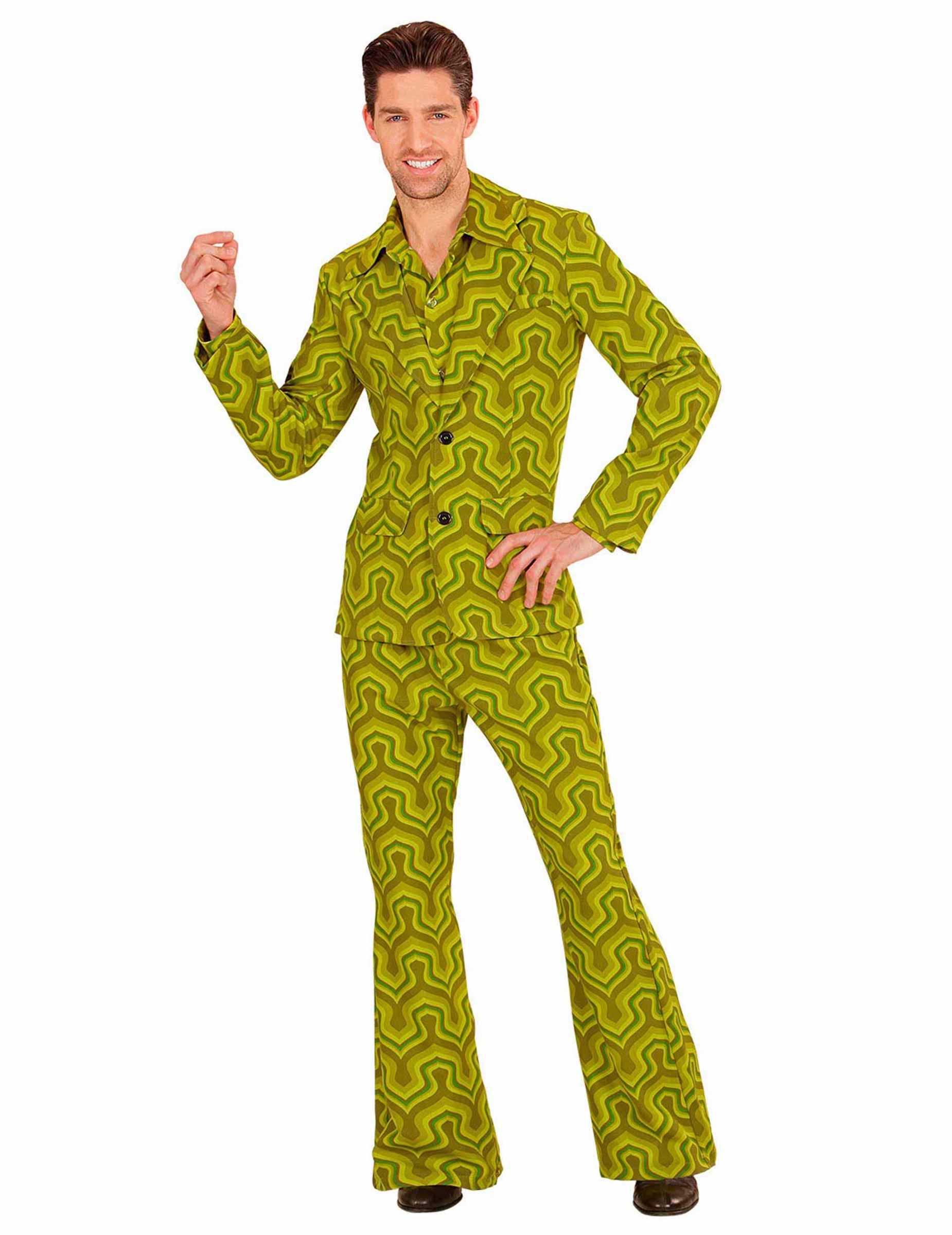 Costume disco verde anni 70 per uomo costumi adulti e for Cucinare anni 70