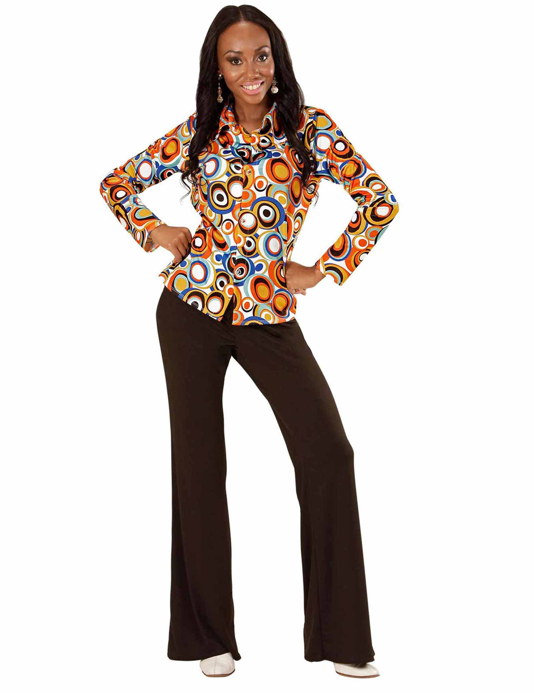 camicia disco retro anni 70 per donna costumi adulti e vestiti di carnevale online vegaoo. Black Bedroom Furniture Sets. Home Design Ideas