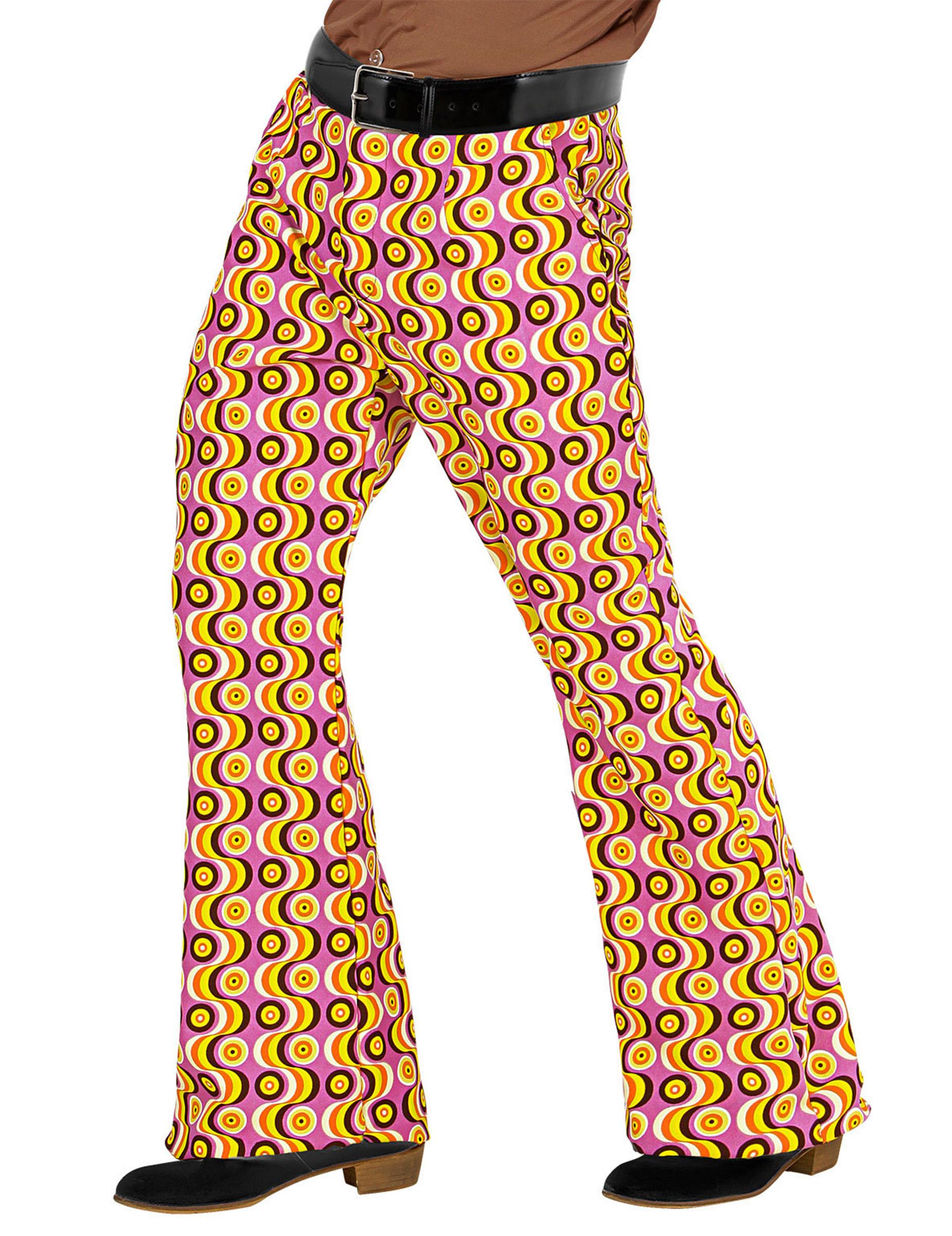 Pantalone anni 70 psicadelico per uomo costumi adulti e for Cucinare anni 70