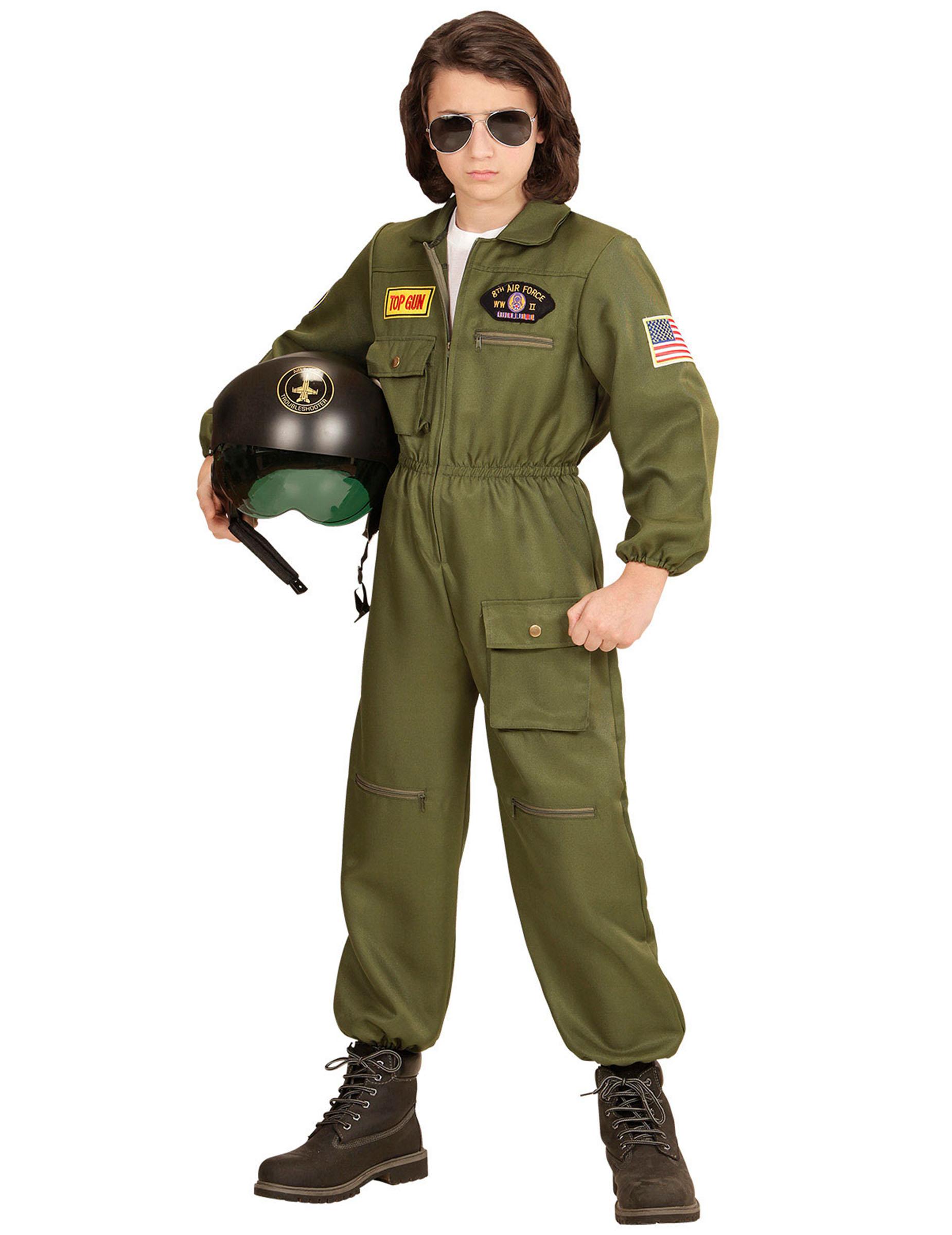 41a3c049e8 Costume da pilota di combattimento per bambino: Costumi bambini,e ...