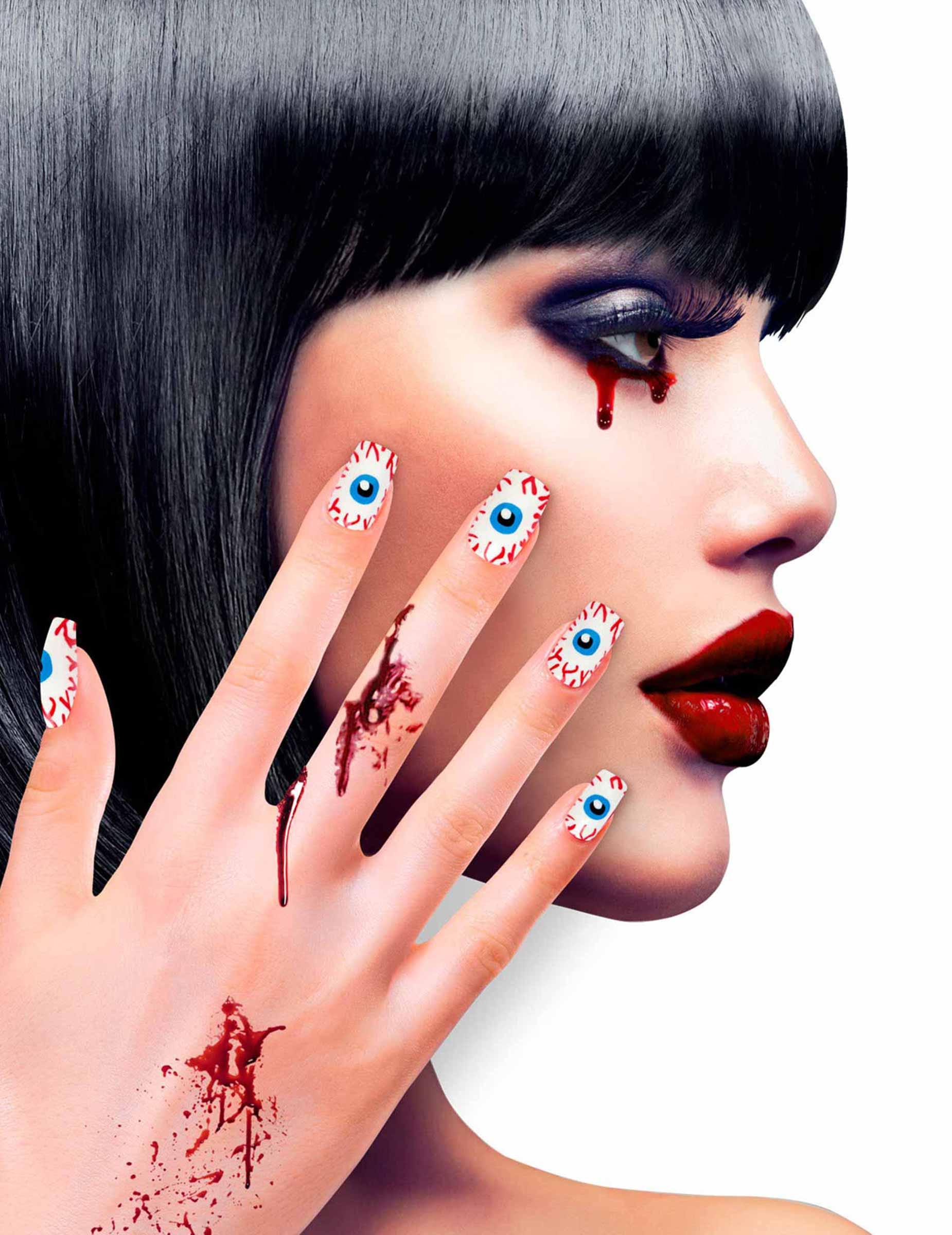 Kit finte unghie autoadesive motivi occhi per adulti for Decorazioni autoadesive