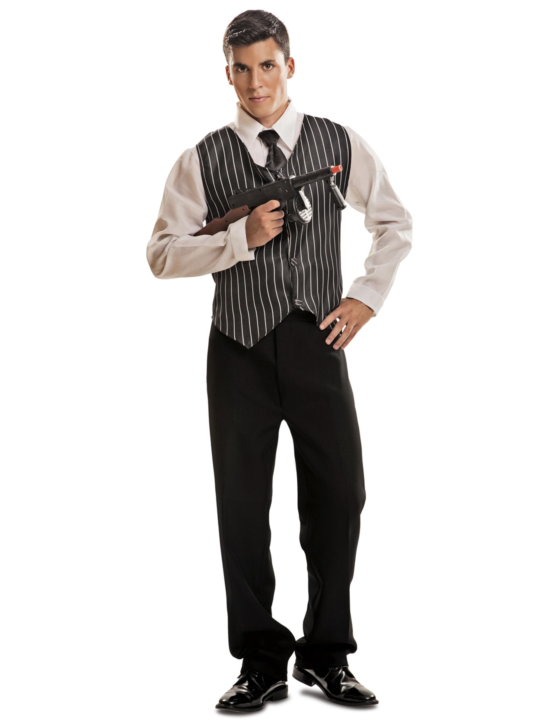 Da Uomo Anni/'20 Vintage Gangster Bugsy Malone Gatsby costume vestito M-XL