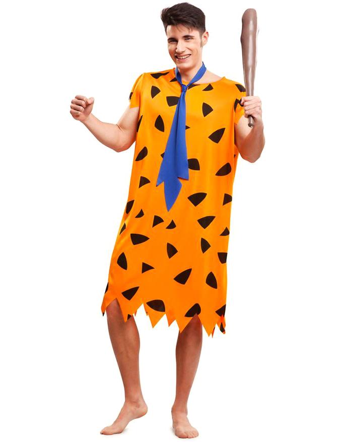 Costume preistorico arancione per uomo: costumi adulti e vestiti di