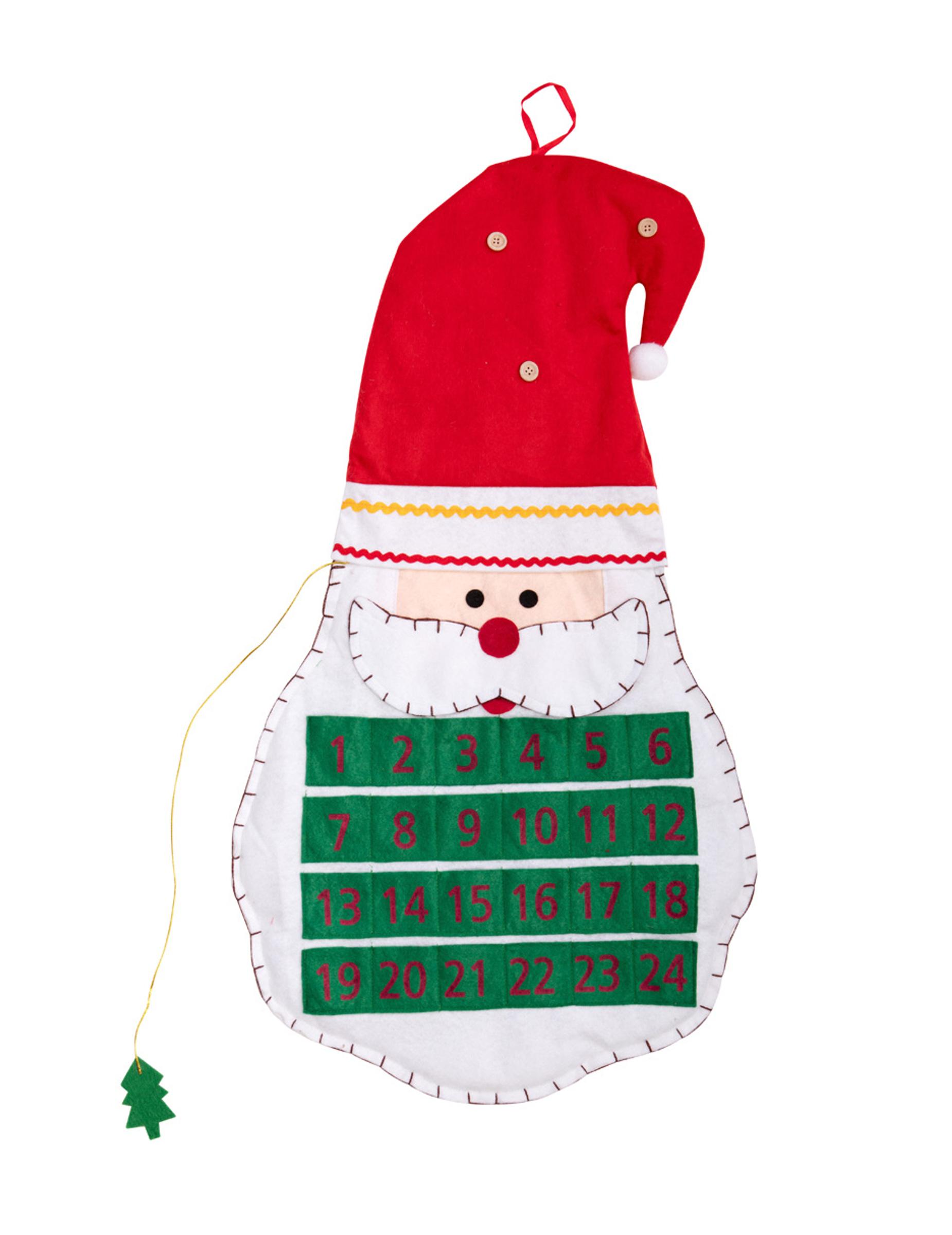 Calendario Dellavvento In Feltro.Calendario Dell Avvento In Feltro 70 Cm Natale