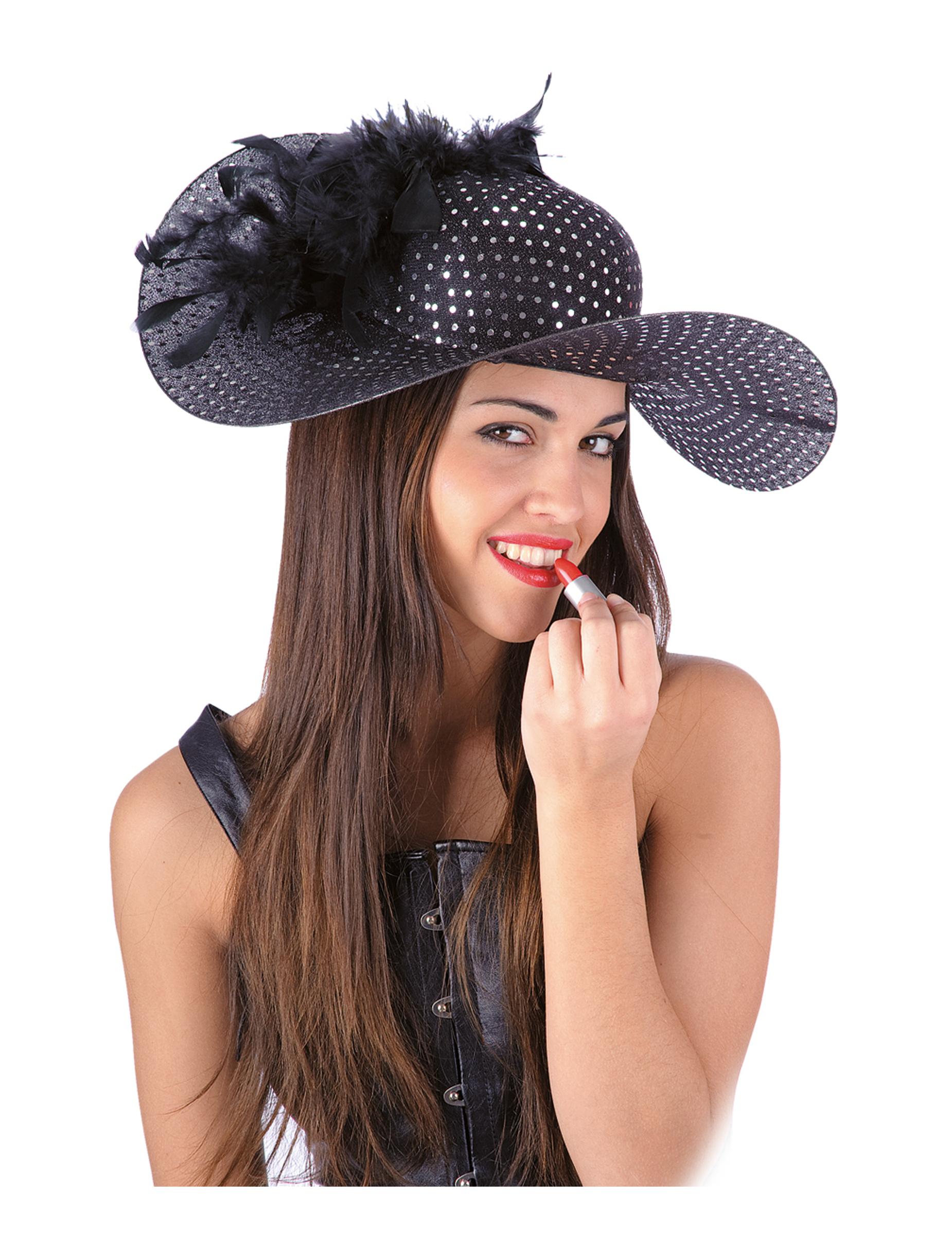 Cappello elegante nero per donna  Cappelli d786882d4630
