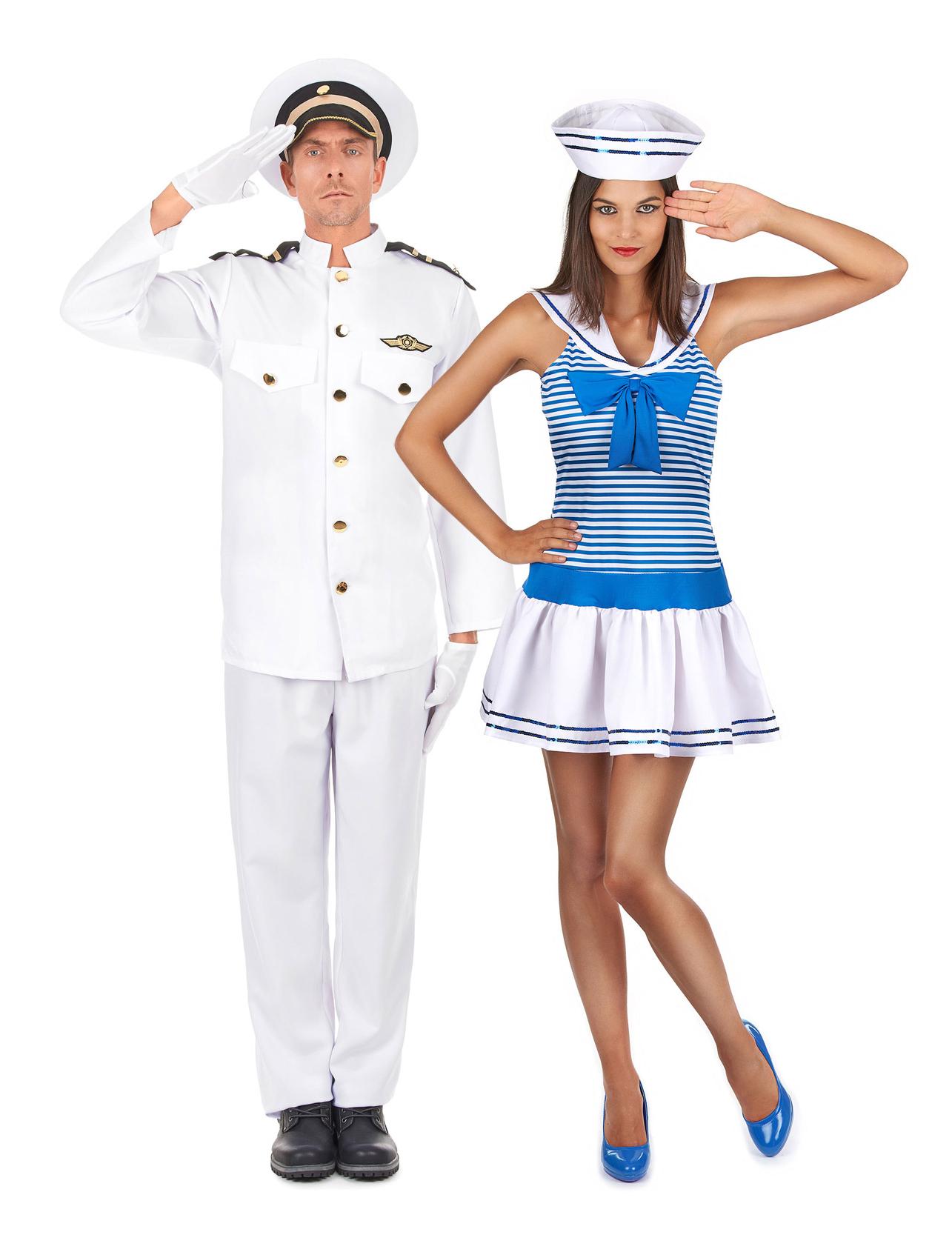 27a14258dbee1b Costume coppia di marinai adulto: Costumi coppia,e vestiti di ...