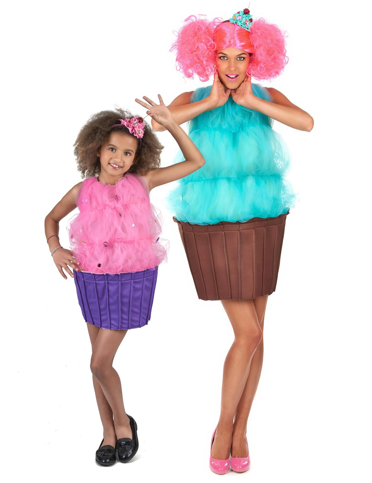 5b7e1cc57ea0 Costume di coppia Cupcake madre e figlia: Costumi coppia,e vestiti ...