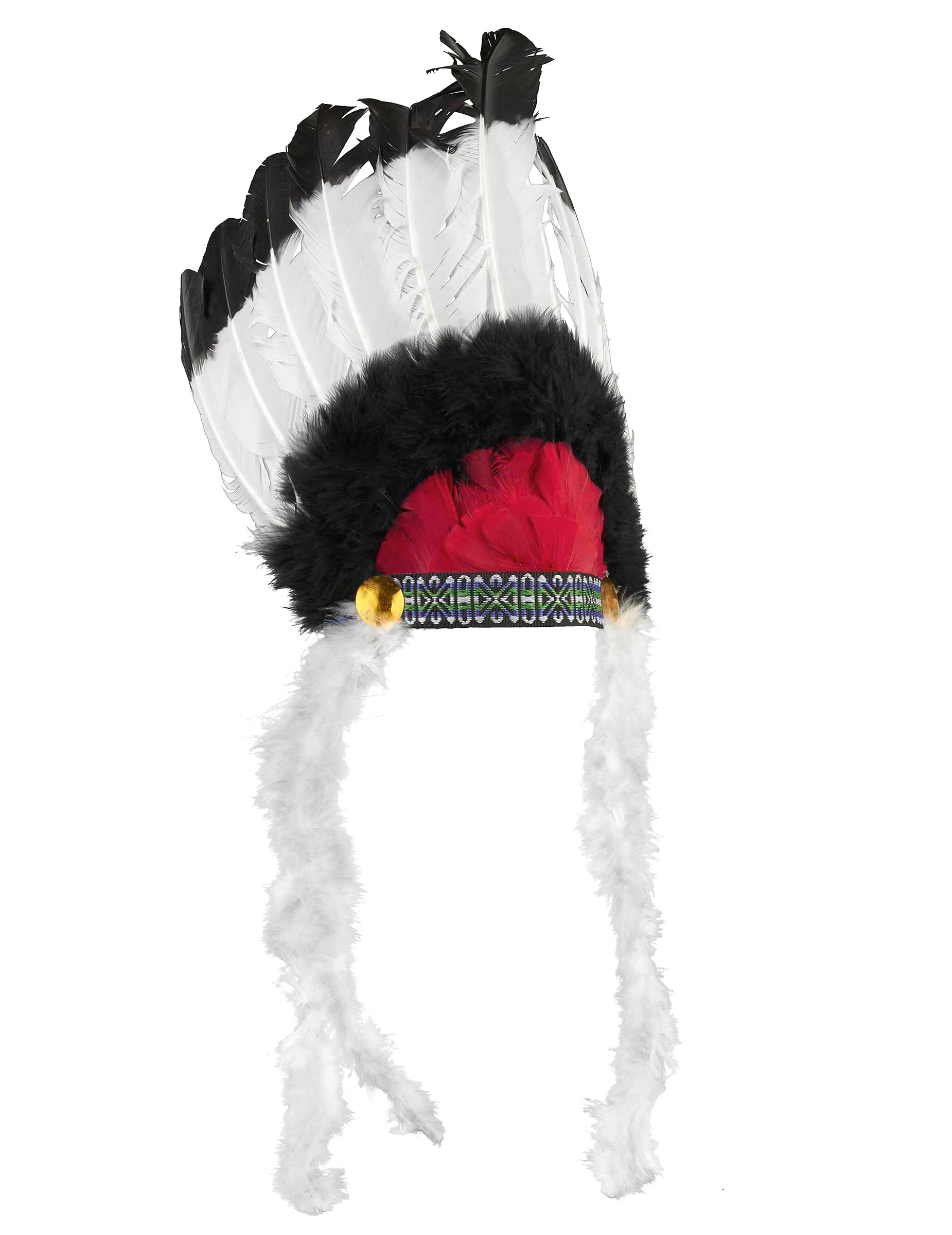 Copricapo indiano con piume per adulto  Accessori d58dc592a344