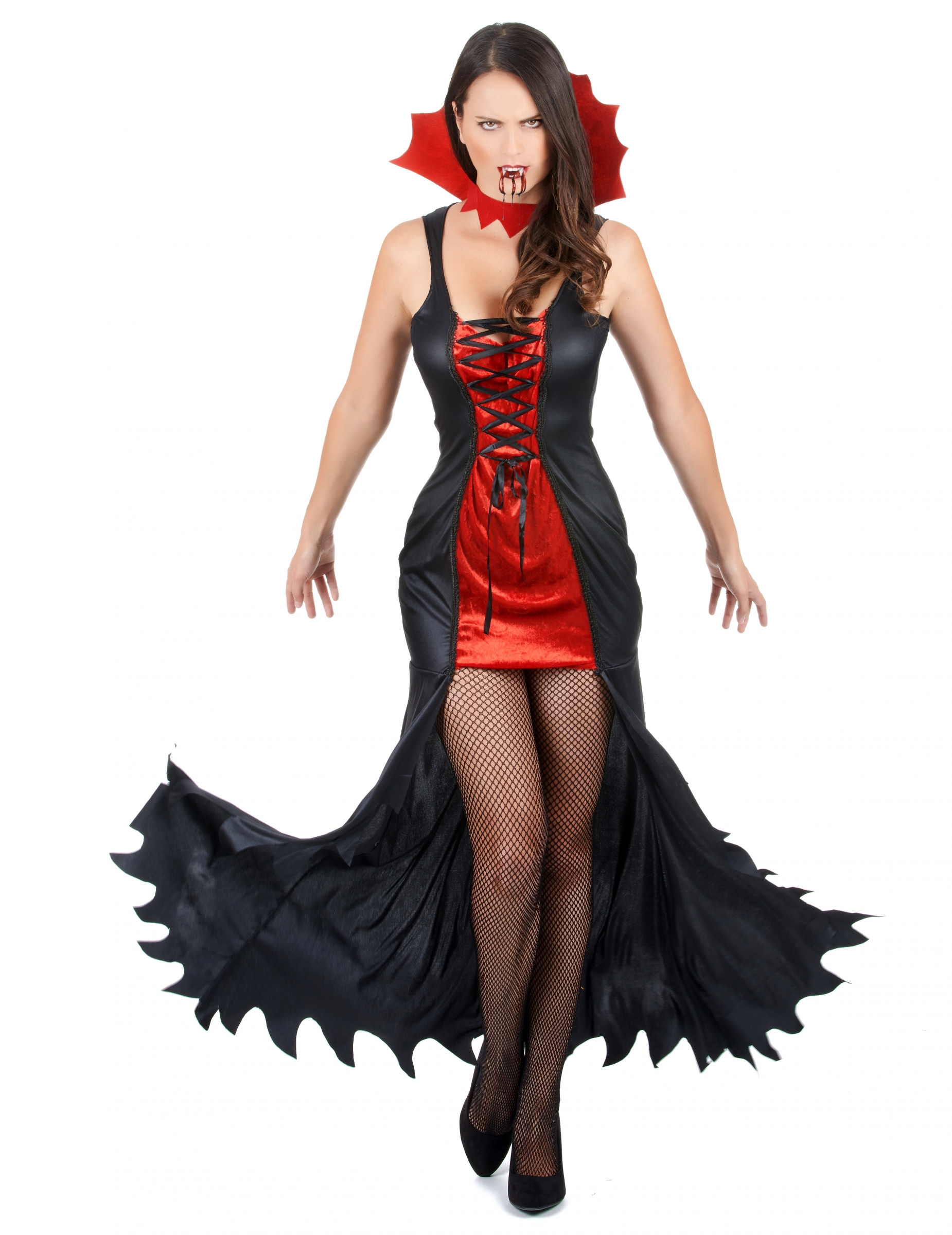 Set costume e accessori da vampiro per donna halloween  Costumi ... 36287e926ea5