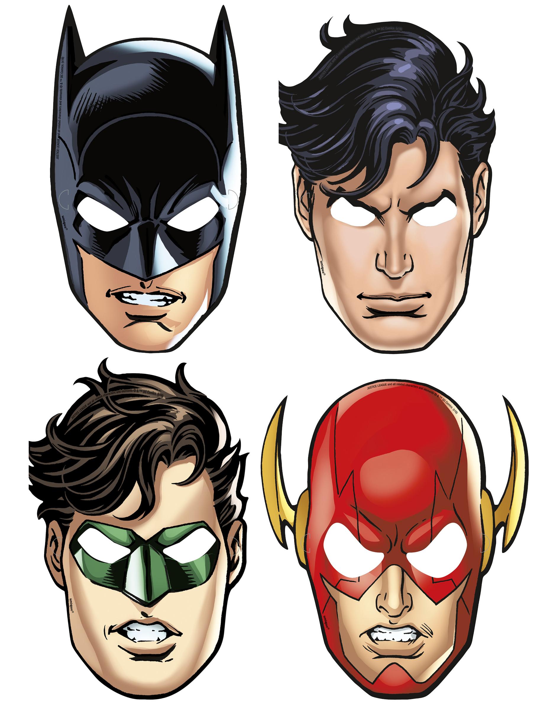 Maschere in cartone justice league™ e vestiti